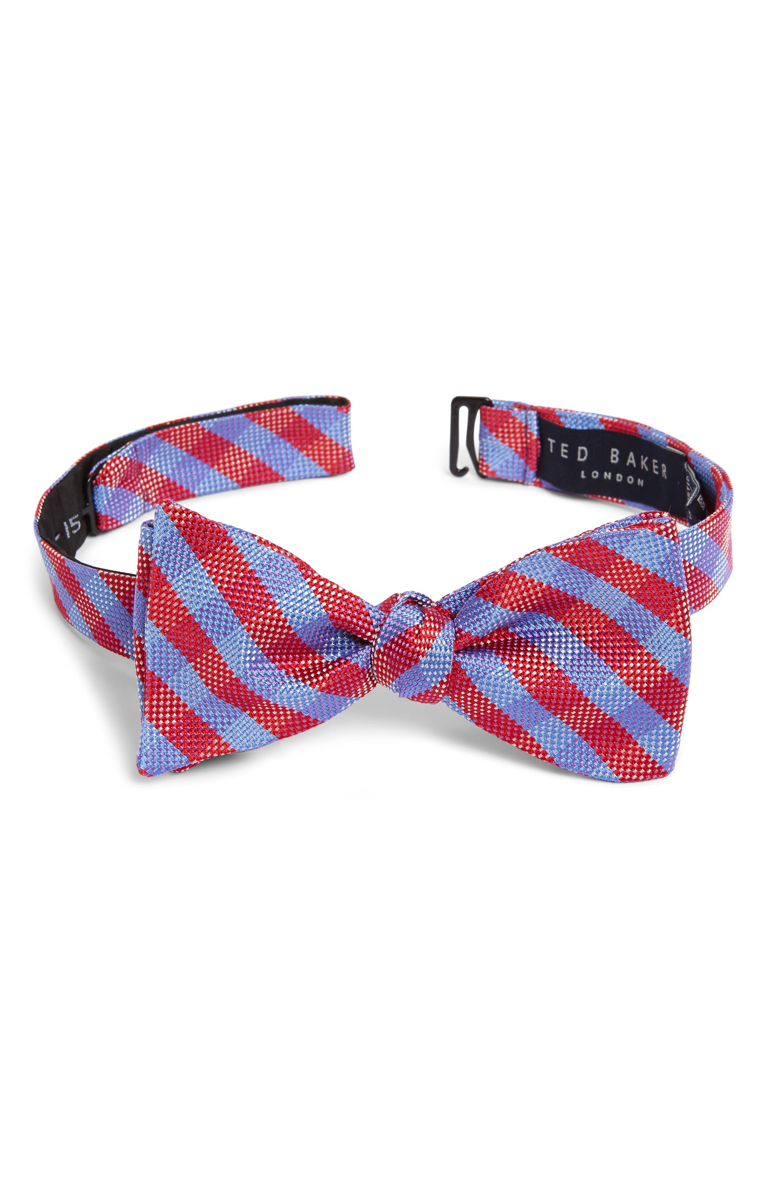 Check Silk Bow Tie,                             Main thumbnail 2, color,