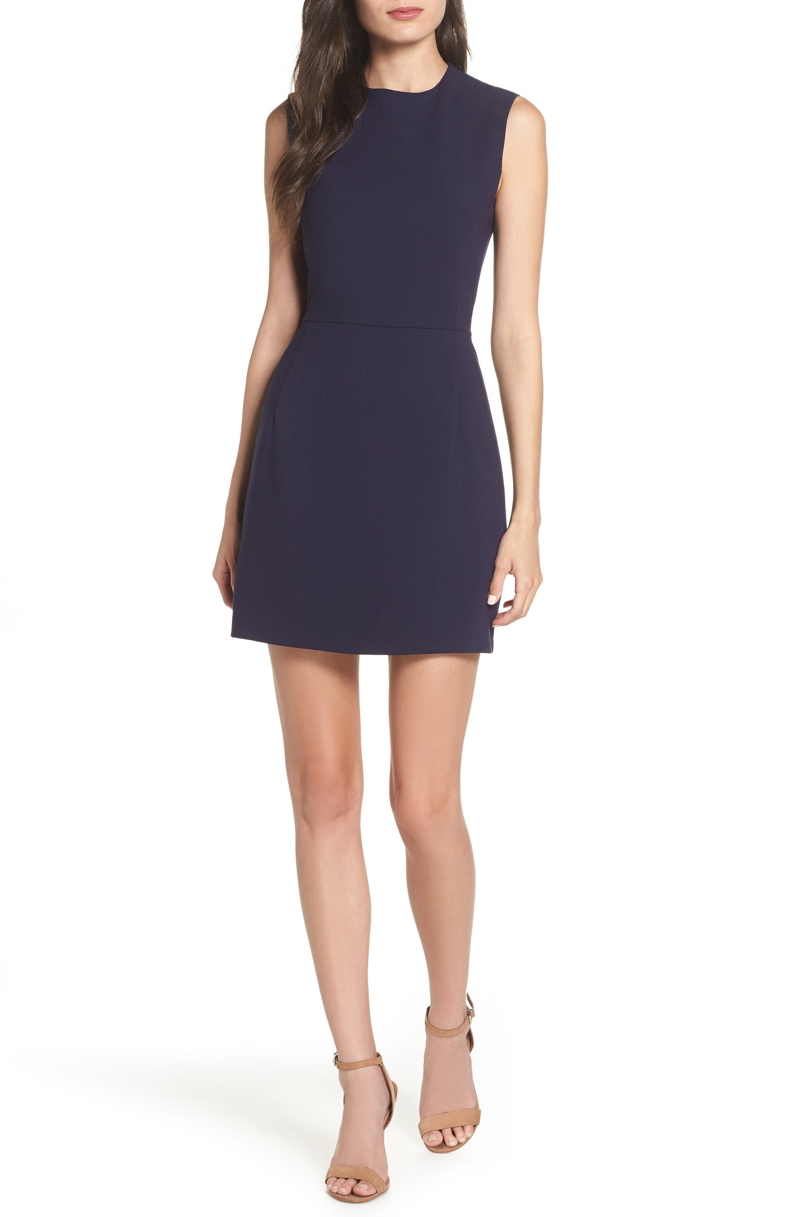 French Connection Sundae Stretch Minidress, Blue