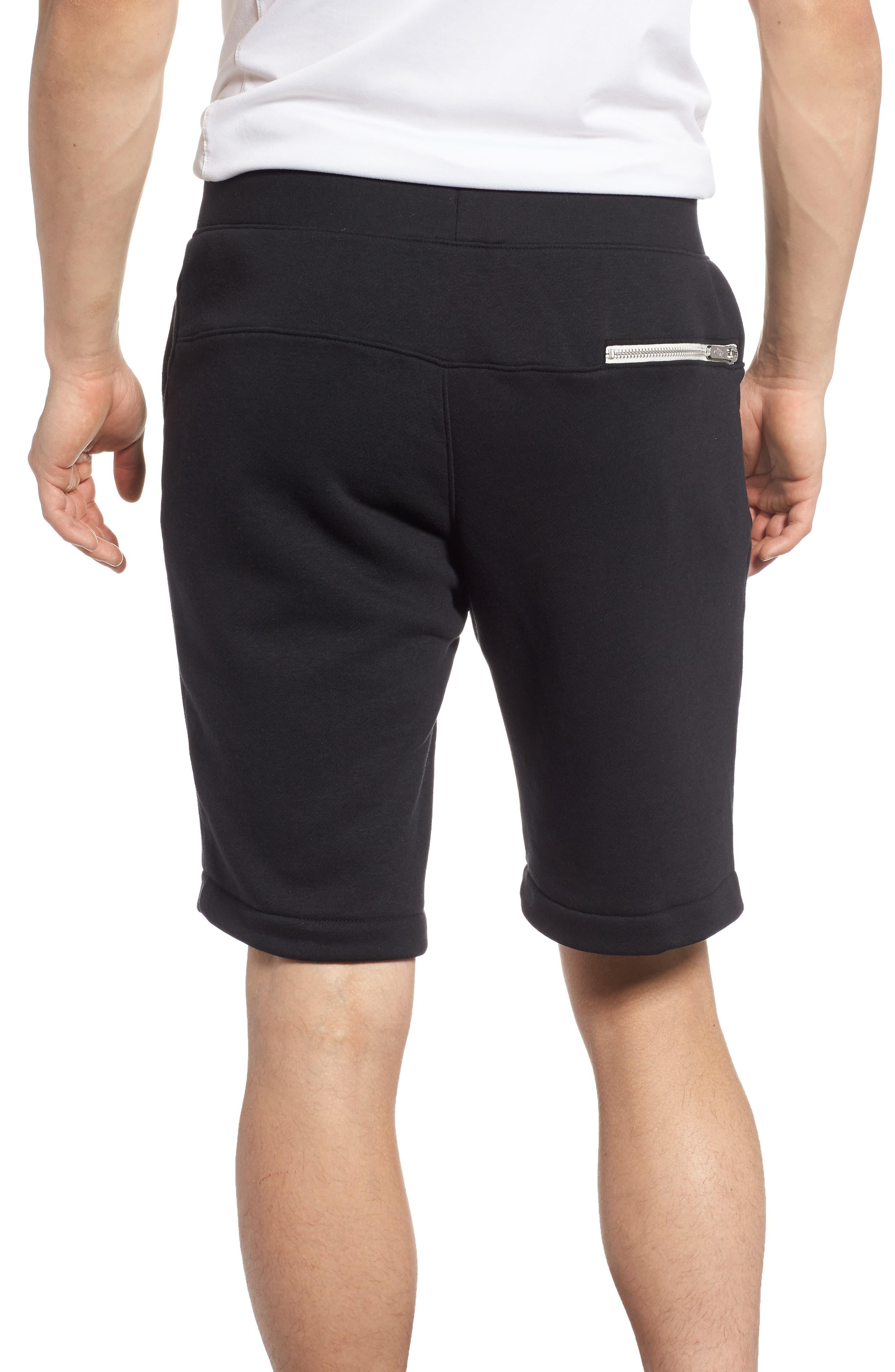 Heritage Knit Shorts,                             Alternate thumbnail 2, color,                             BLACK/ SAIL