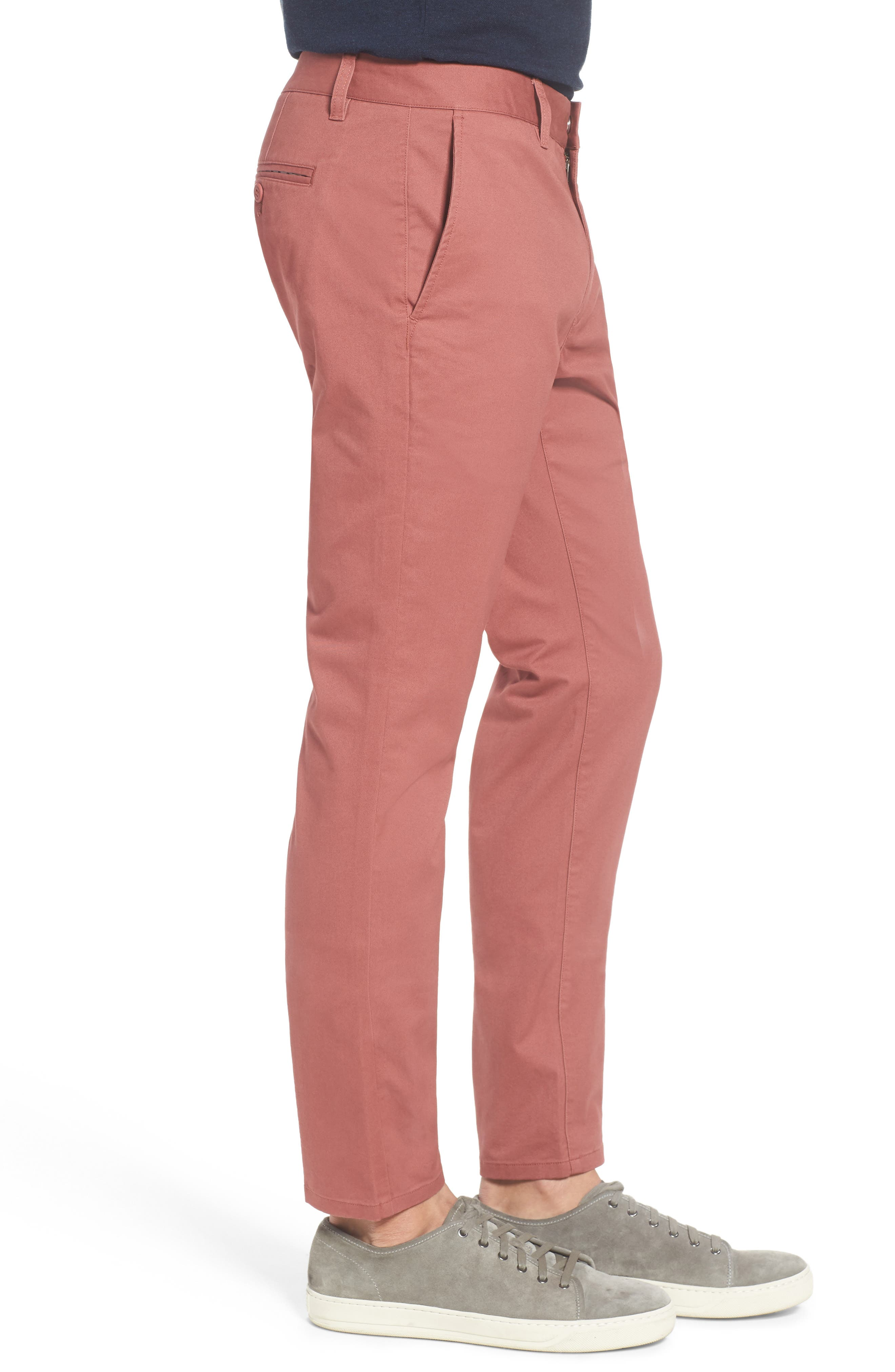 Tailored Fit Washed Stretch Cotton Chinos,                             Alternate thumbnail 104, color,