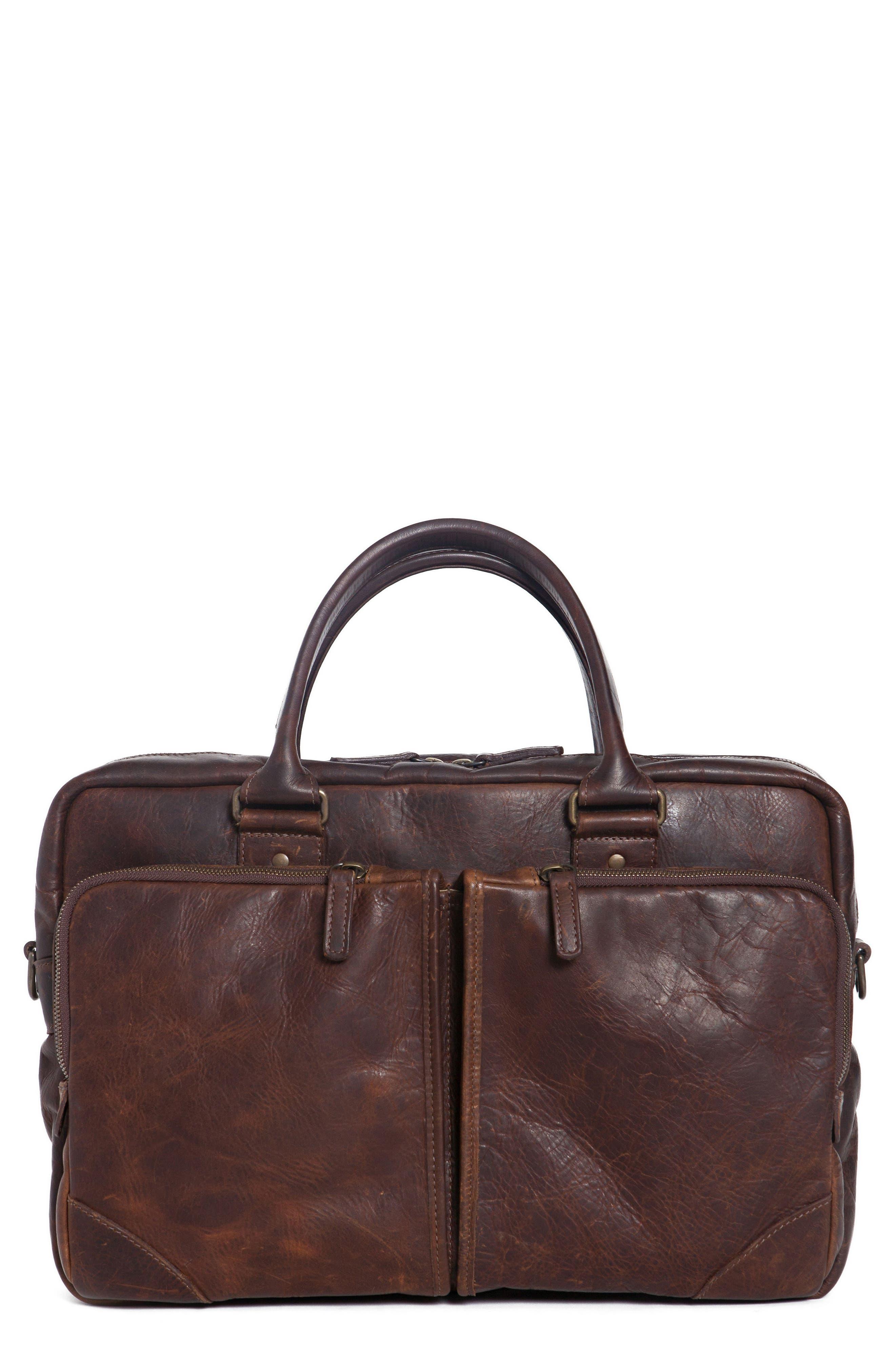 Haythe Leather Briefcase,                         Main,                         color, 209