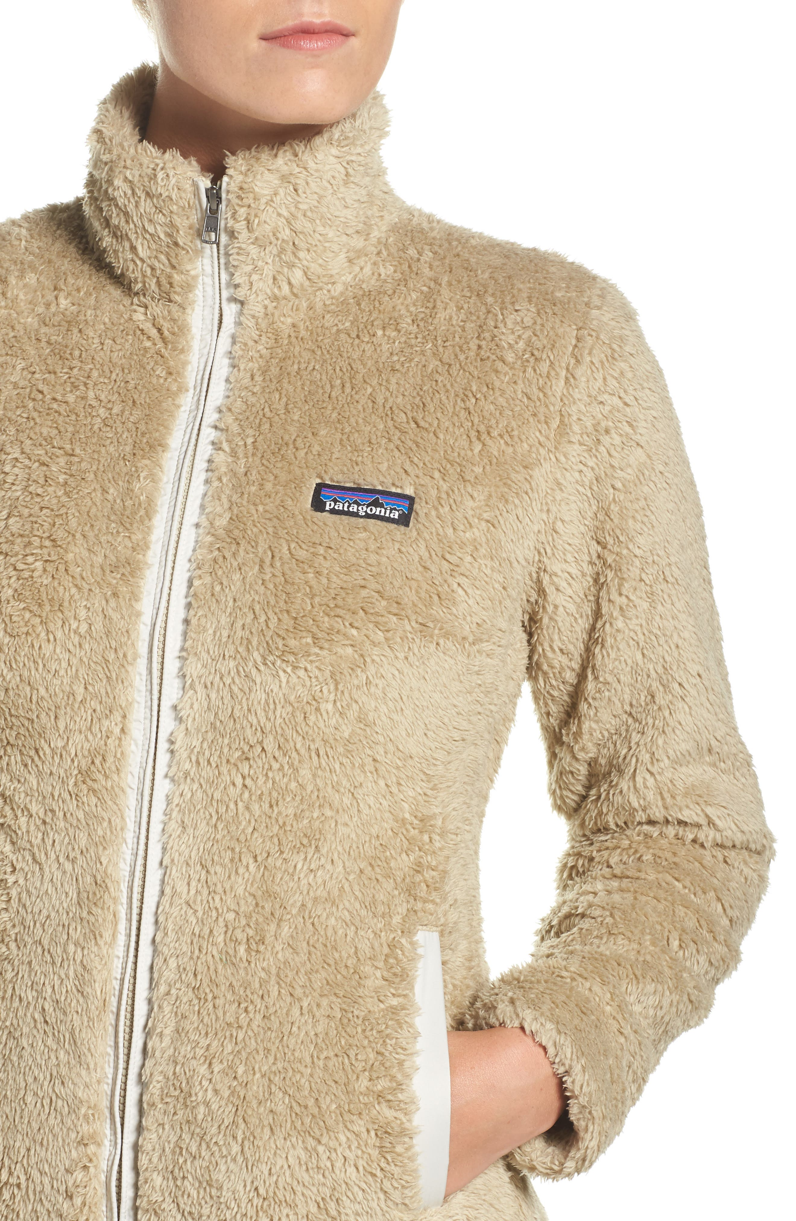 Los Gatos Fleece Jacket,                             Alternate thumbnail 4, color,                             EL CAP KHAKI