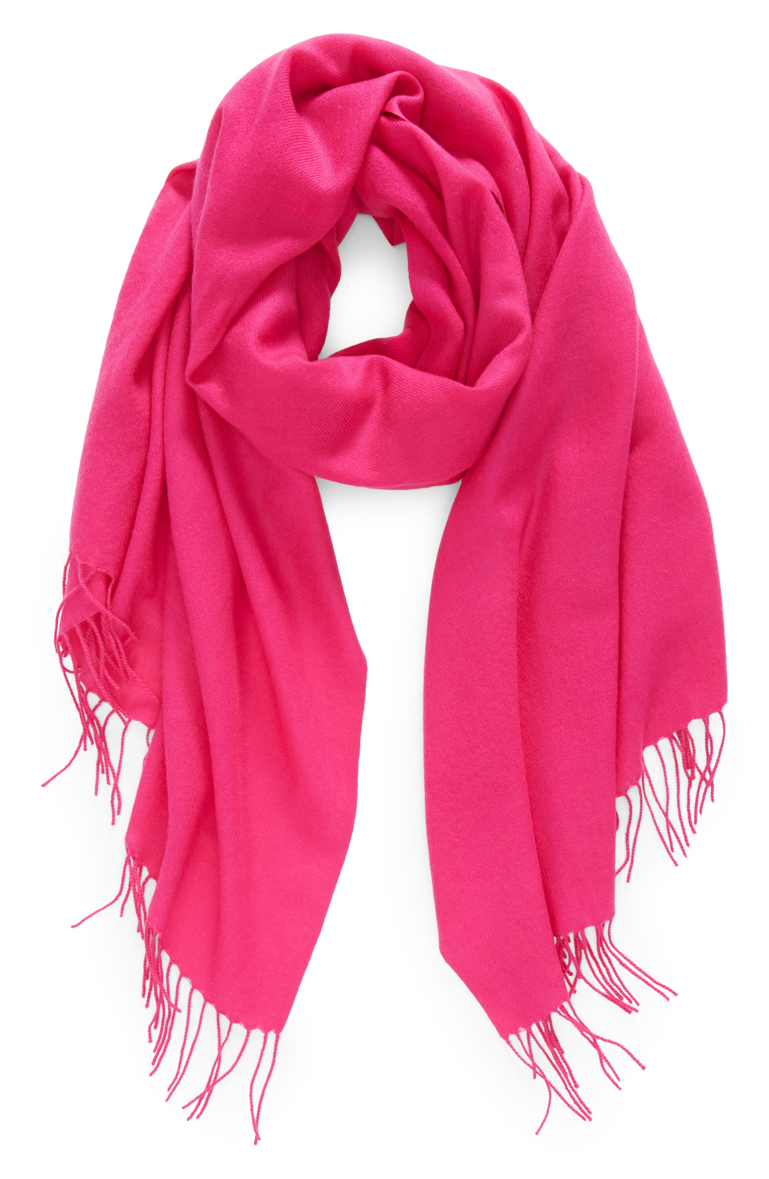 Tissue Weight Wool & Cashmere Scarf,                             Alternate thumbnail 81, color,