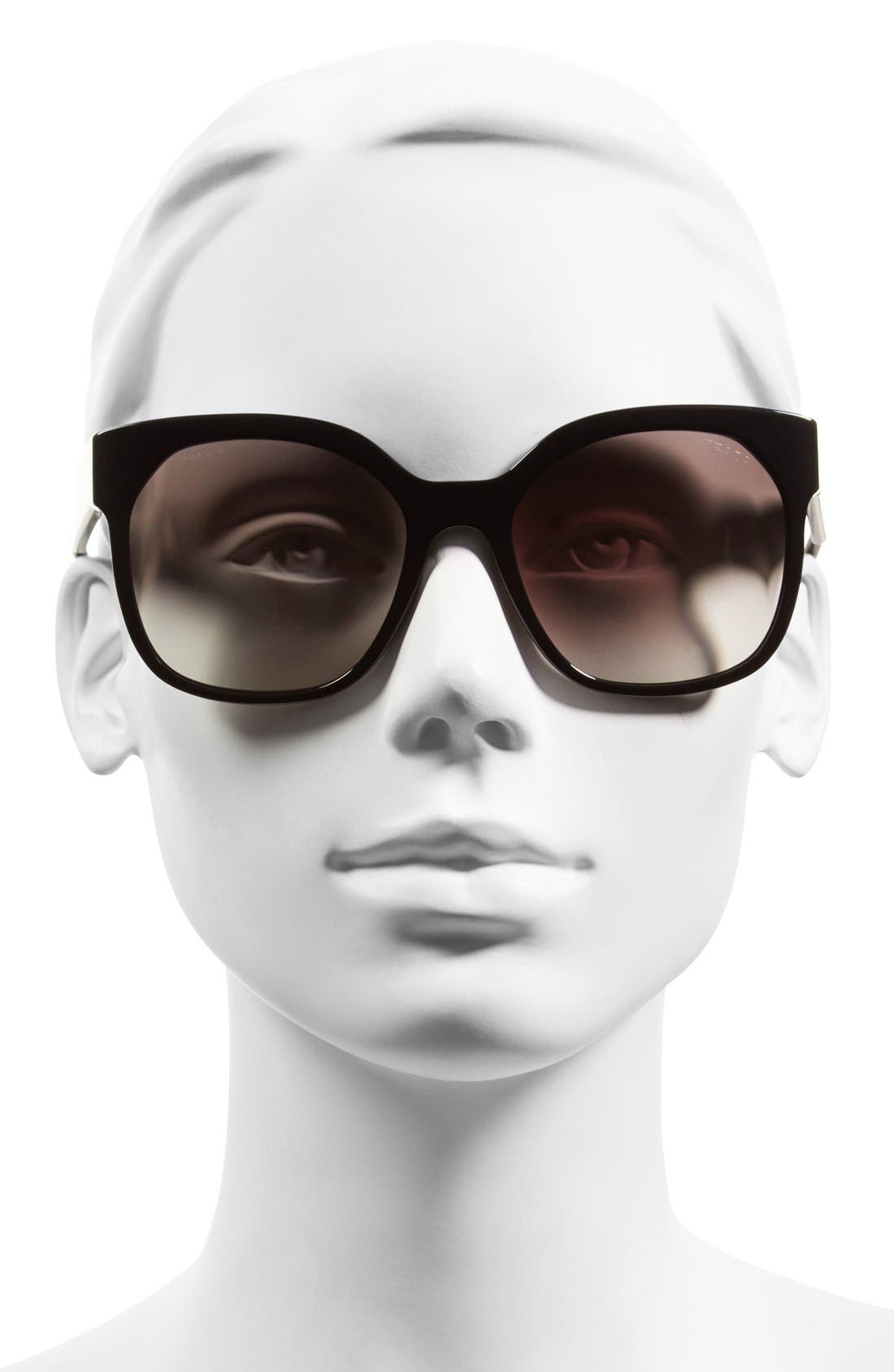 PRADA,                             57mm Sunglasses,                             Alternate thumbnail 2, color,                             001