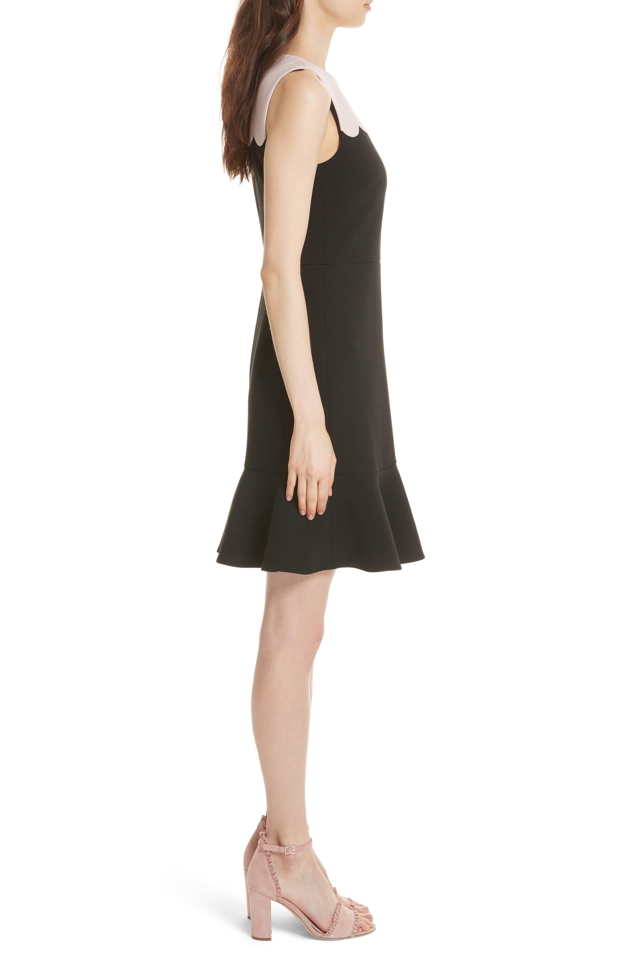 scallop sleeveless dress,                             Alternate thumbnail 3, color,                             663