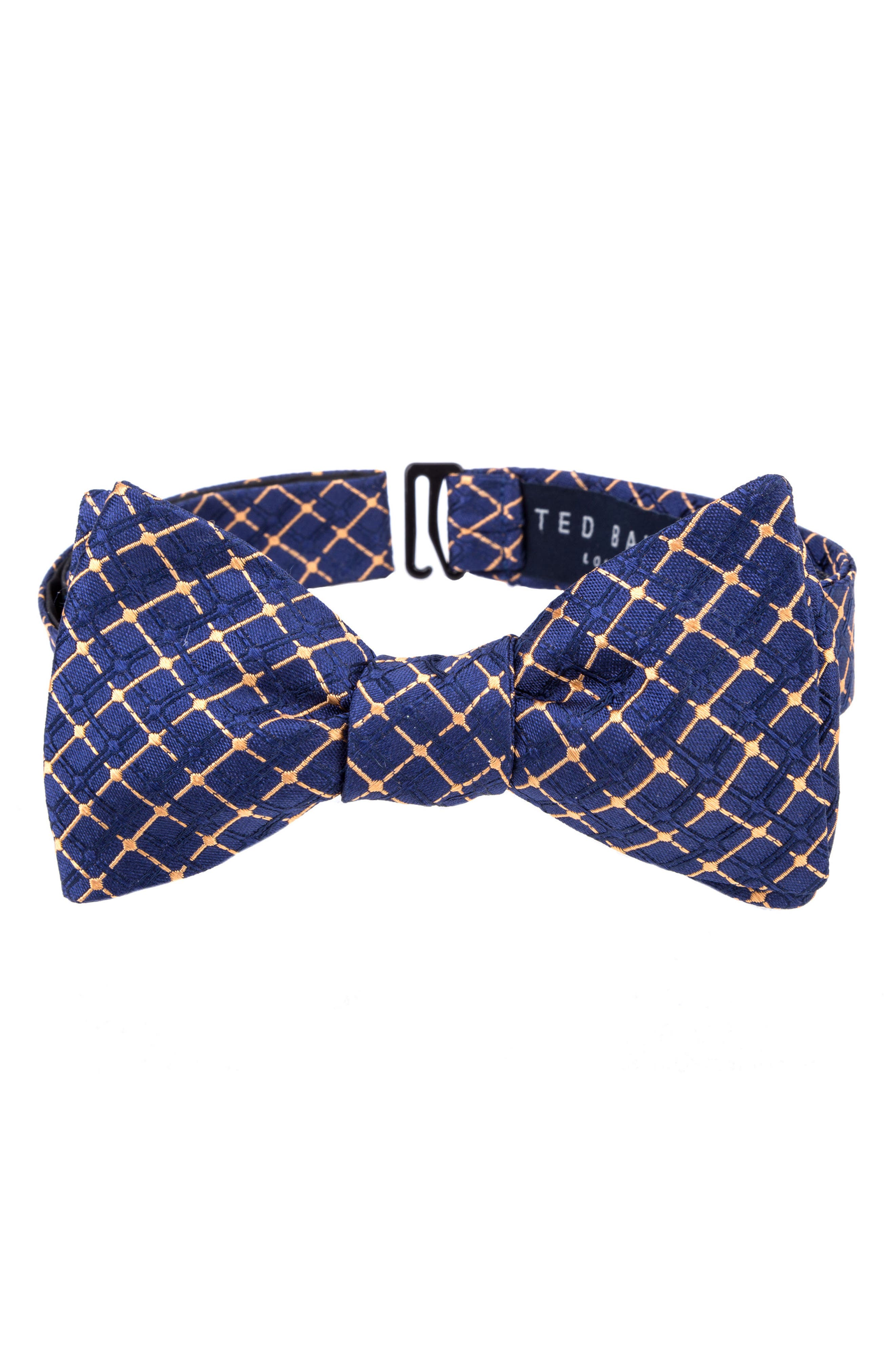 Superb Check Silk Bow Tie,                             Main thumbnail 6, color,