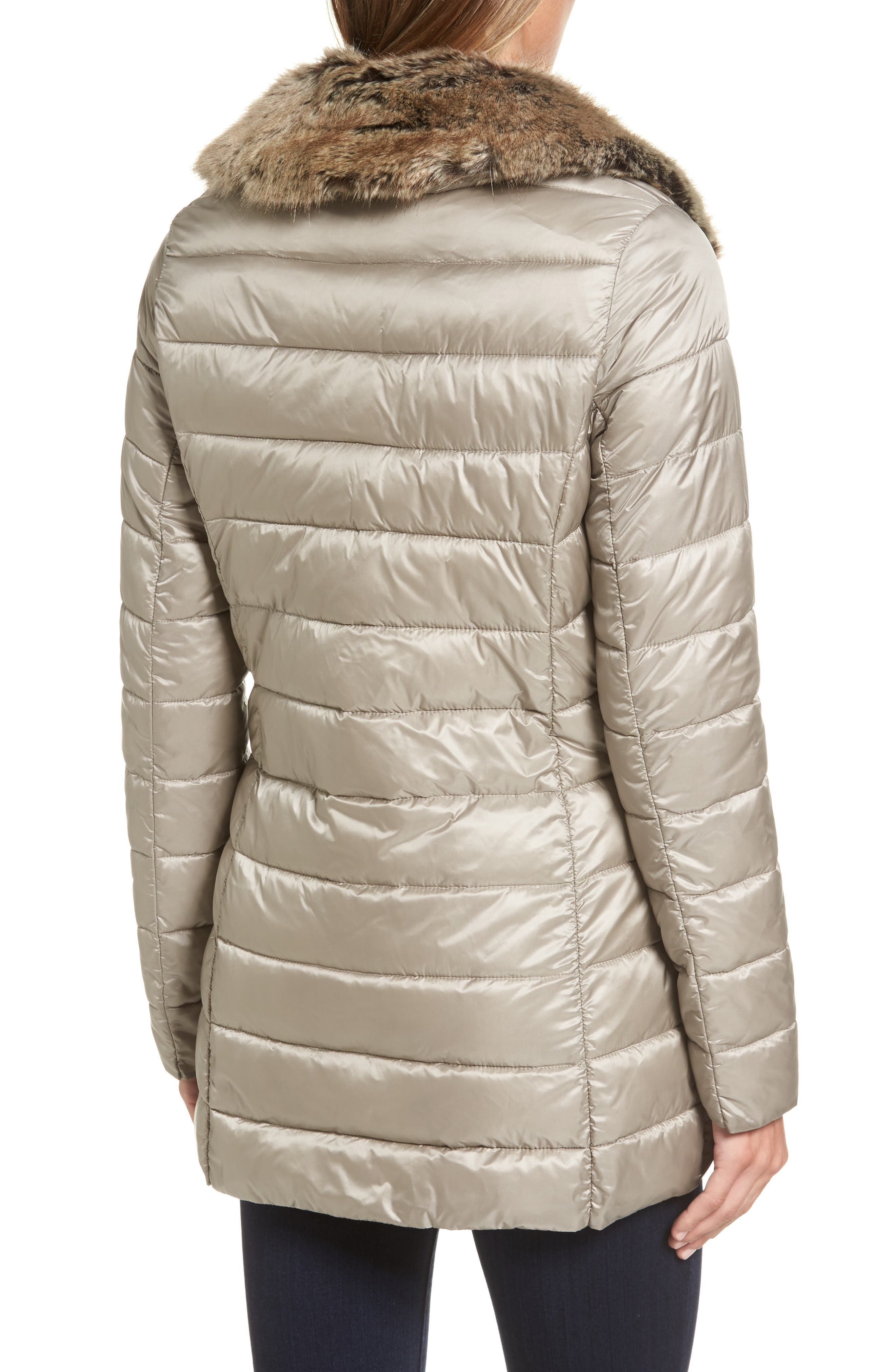 Rambleton Water Resistant Quilted Jacket with Faux Fur Collar,                             Alternate thumbnail 2, color,                             270