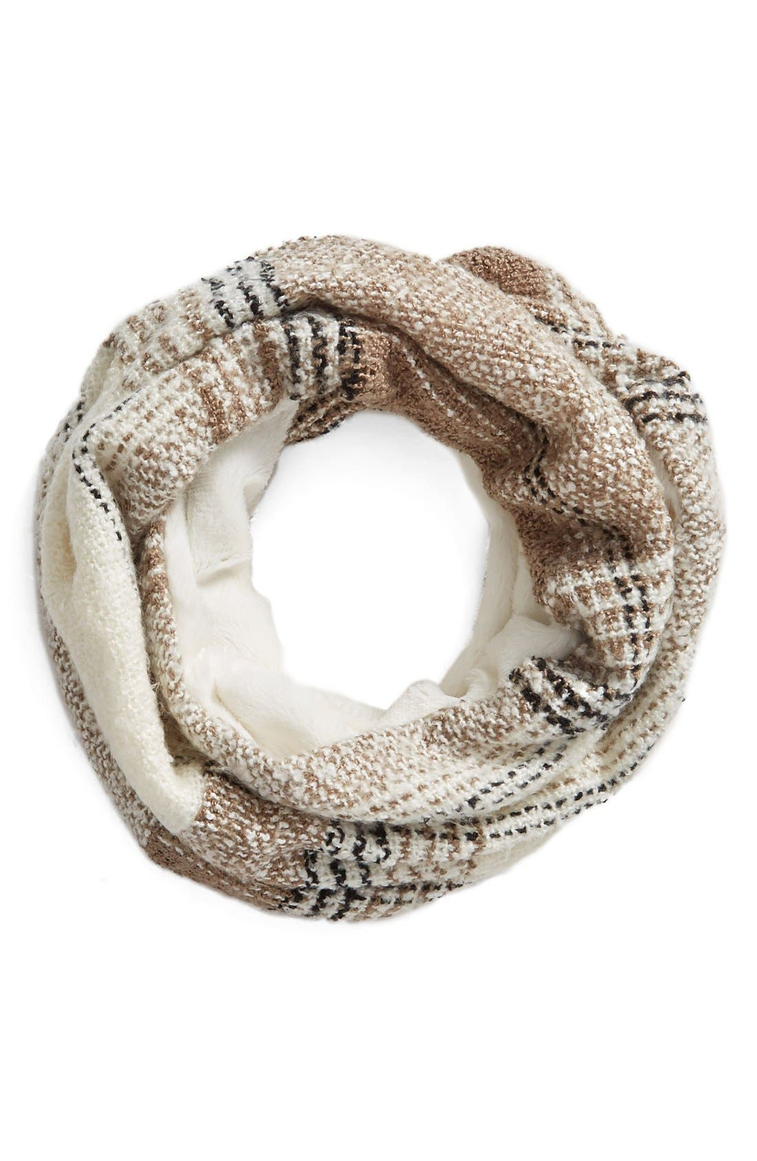 Plaid Infinity Scarf, Main, color, 900