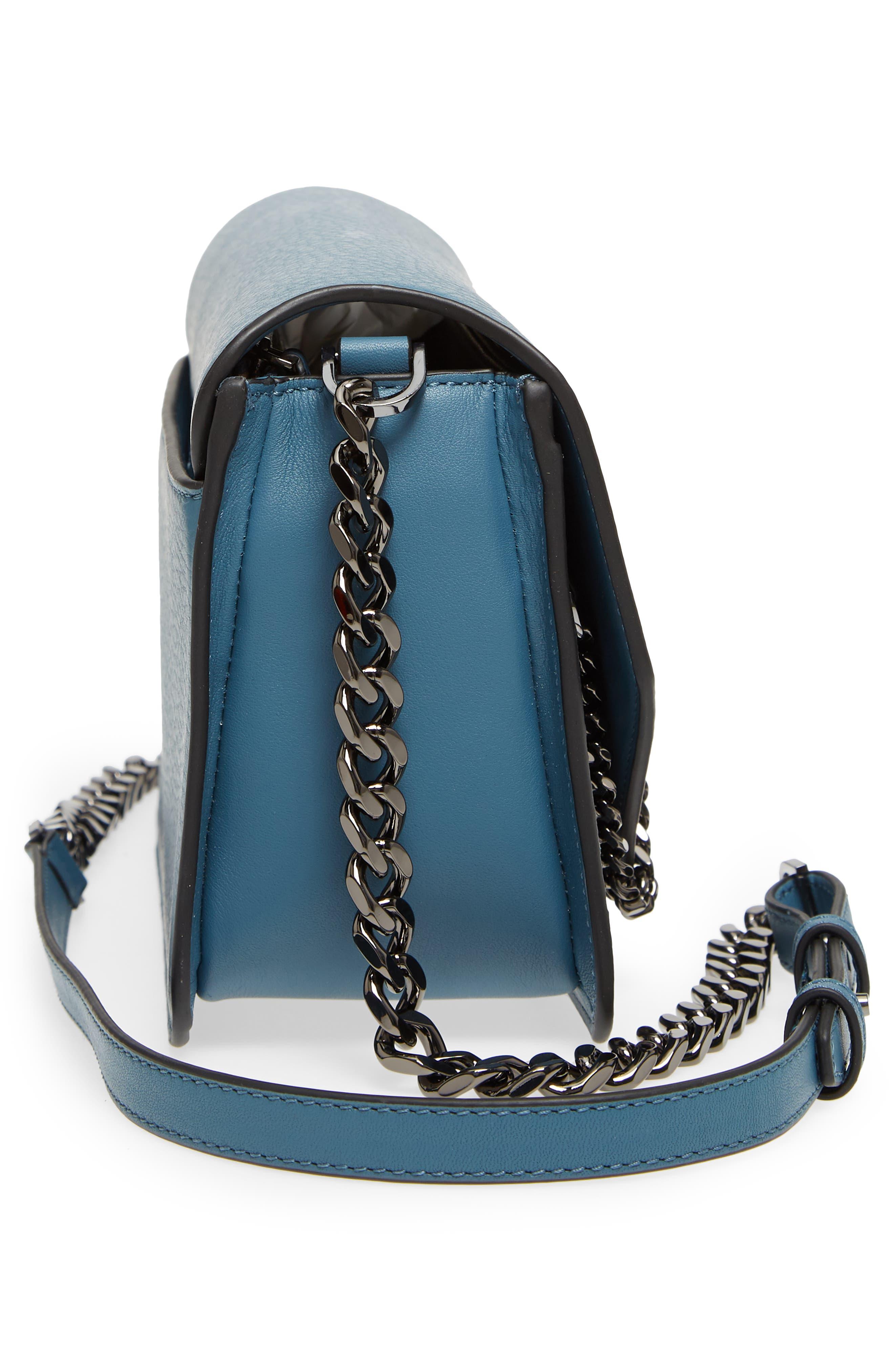 Cortney Nappa Leather Shoulder/Crossbody Bag,                             Alternate thumbnail 19, color,