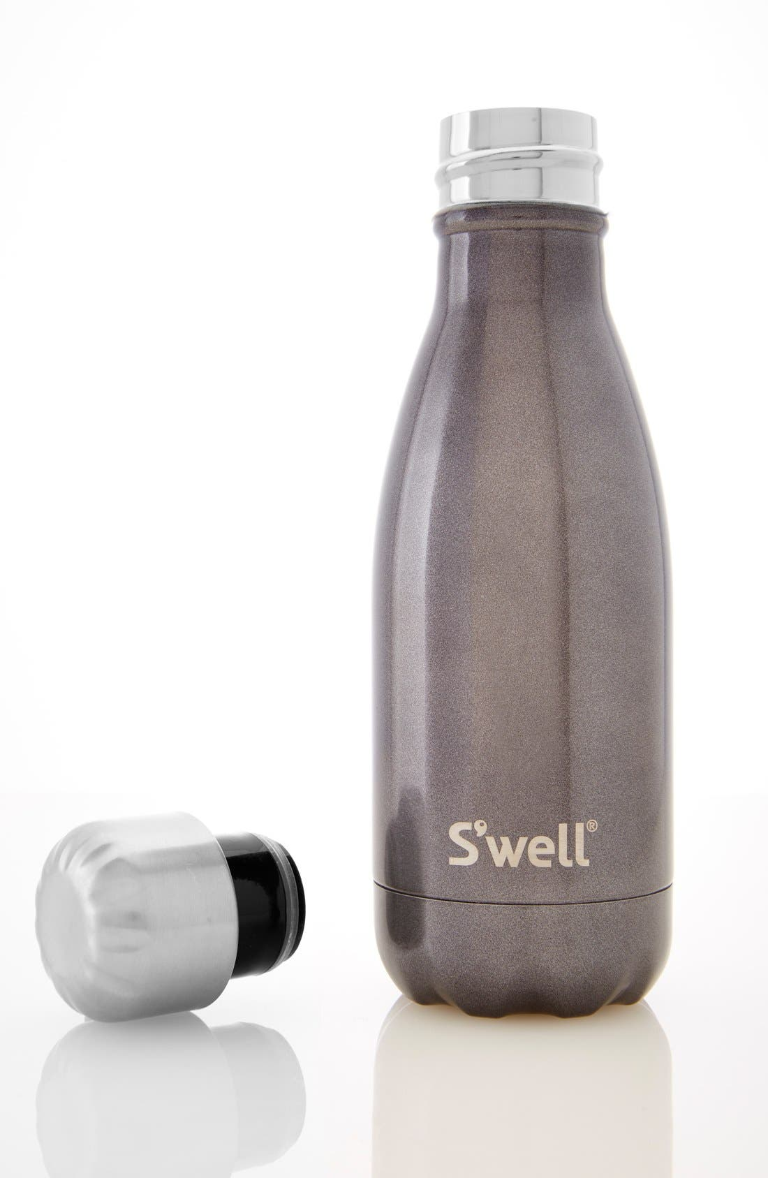 'Glitter Smokey Eye' Insulated Stainless Steel Water Bottle,                             Alternate thumbnail 4, color,                             040