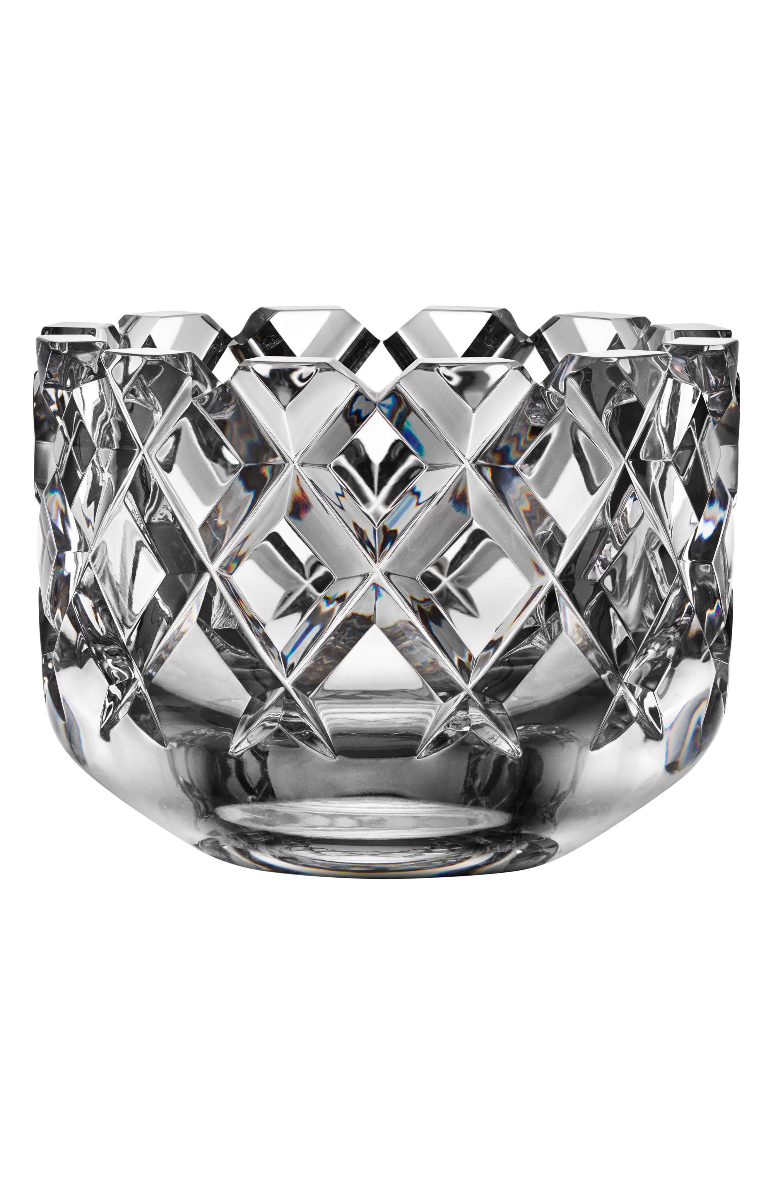 Sofiero Medium Crystal Bowl,                             Main thumbnail 1, color,                             CLEAR