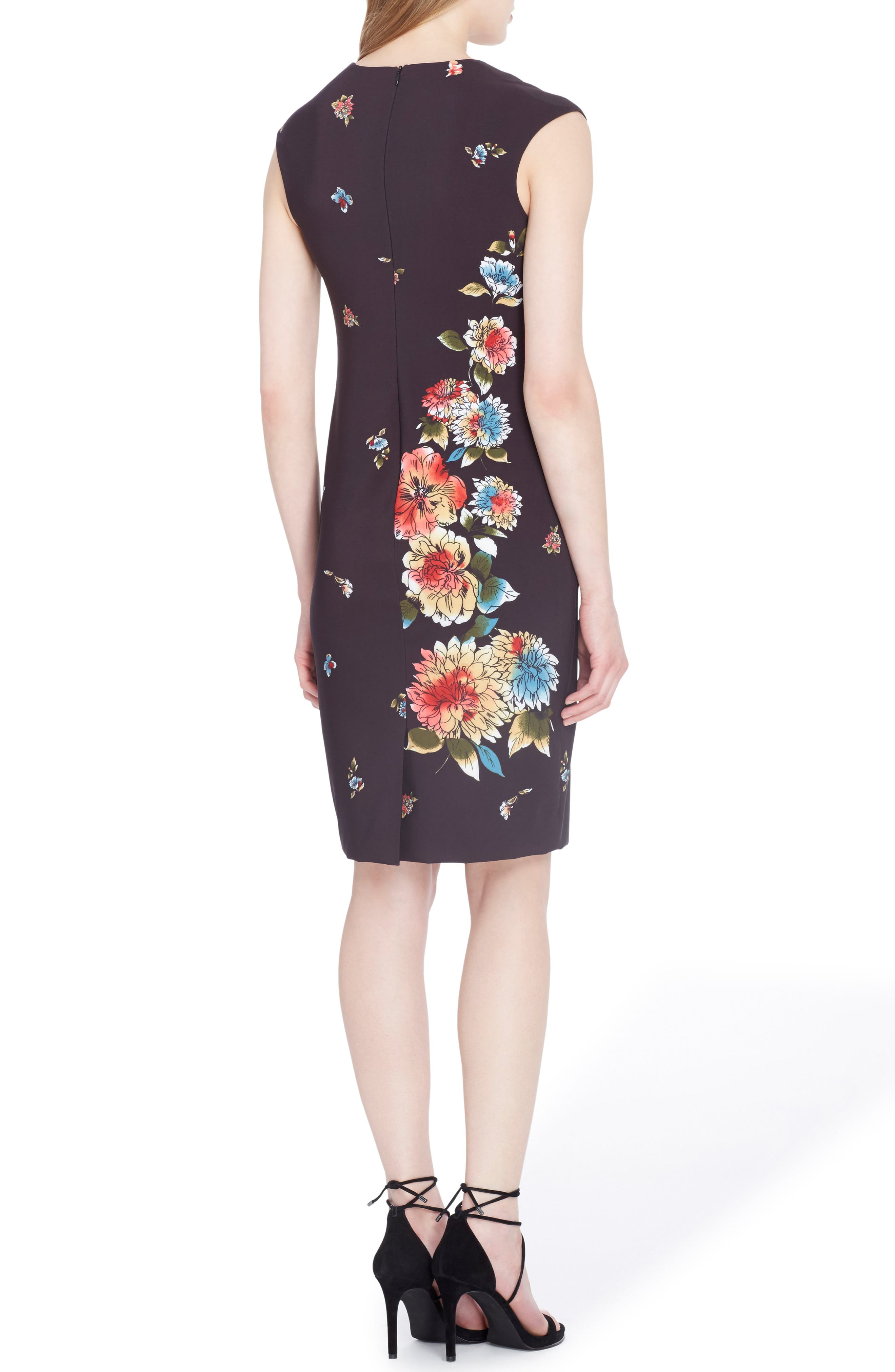 Floral Sheath Dress,                             Alternate thumbnail 2, color,                             007