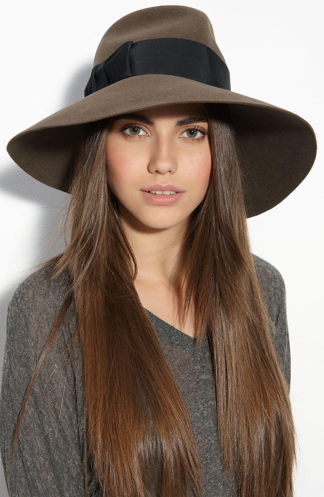 Rabbit Hair Felt Hat,                             Main thumbnail 2, color,