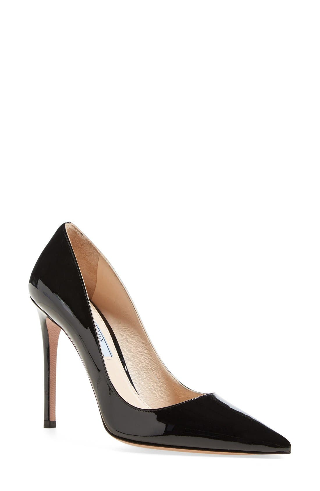 Pointy Toe Pump,                         Main,                         color, BLACK PATENT