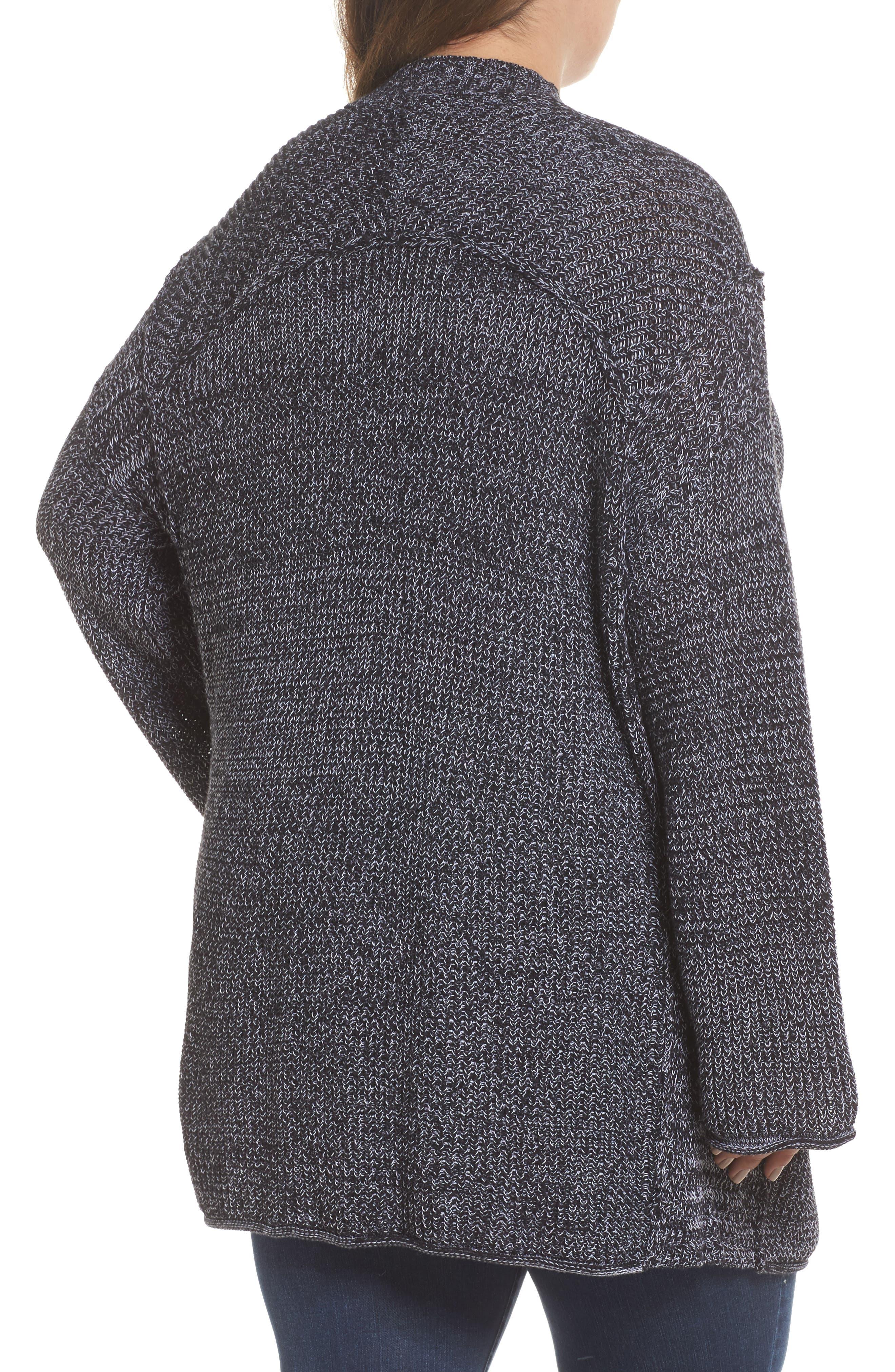 Sweater Knit Cardigan,                             Alternate thumbnail 2, color,                             001