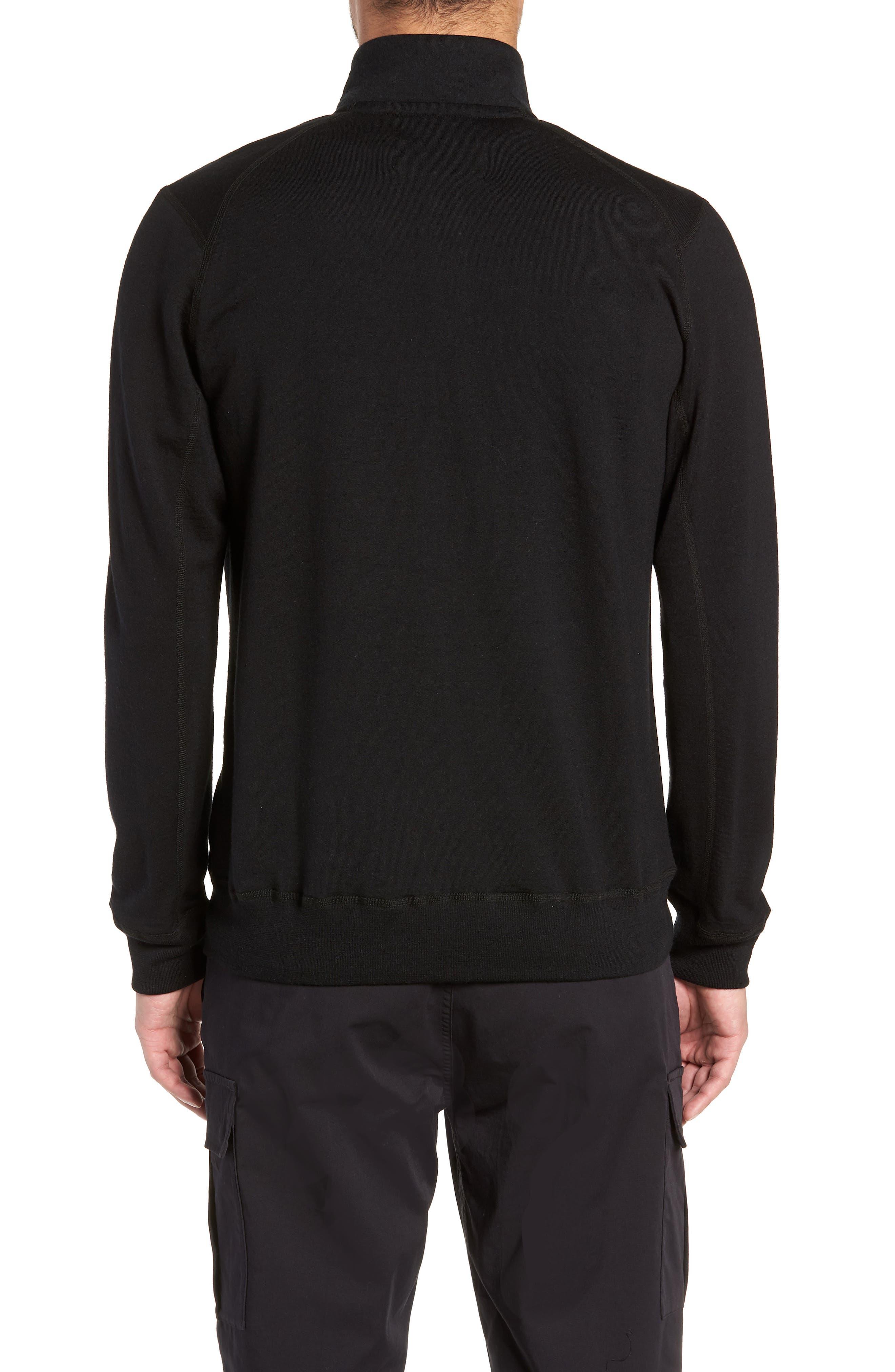 Swedish Merino Wool Trail Shirt,                             Alternate thumbnail 2, color,                             BLACK