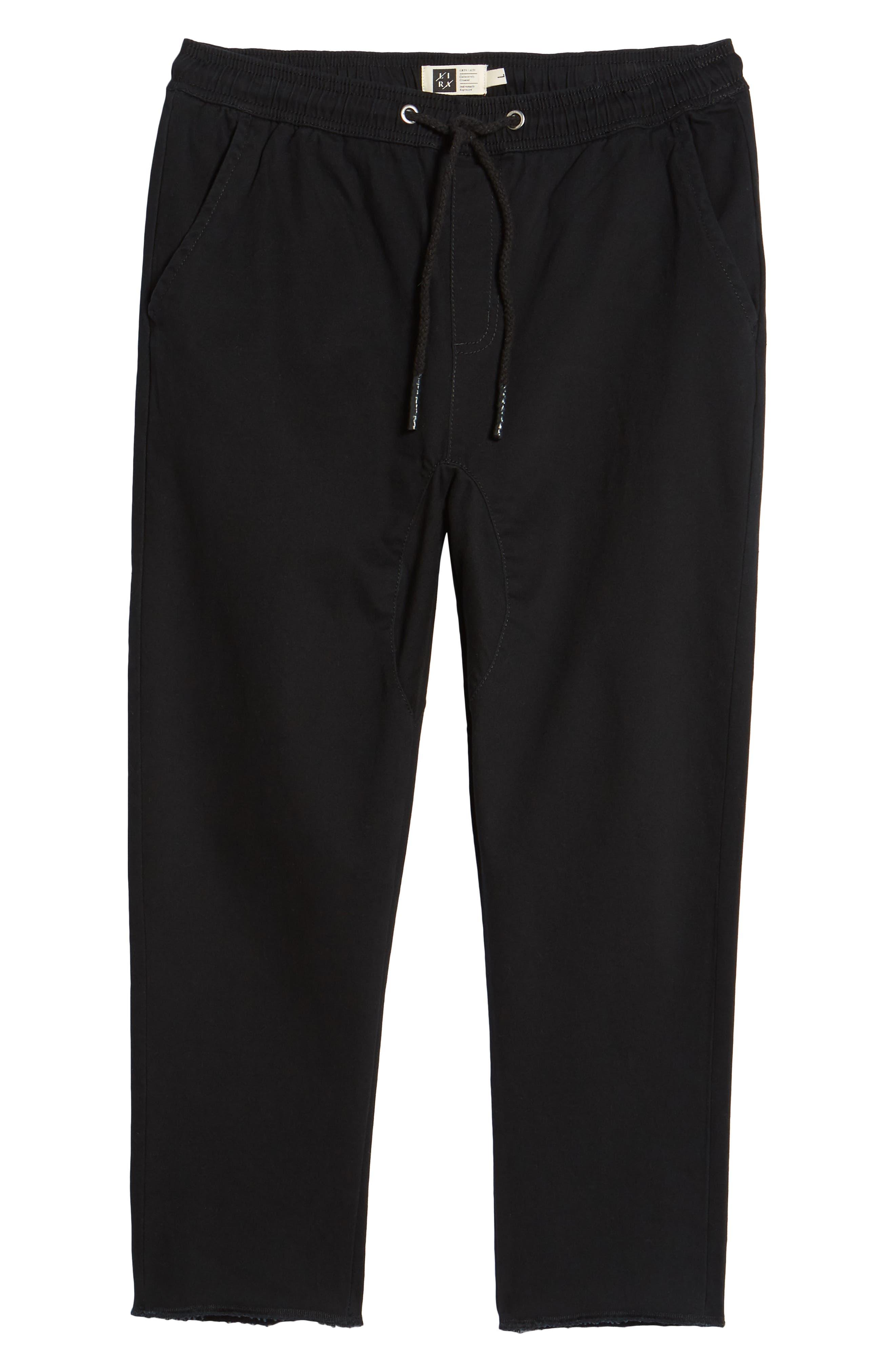 Crossroad Slim Fit Pants,                             Alternate thumbnail 6, color,                             BLACK