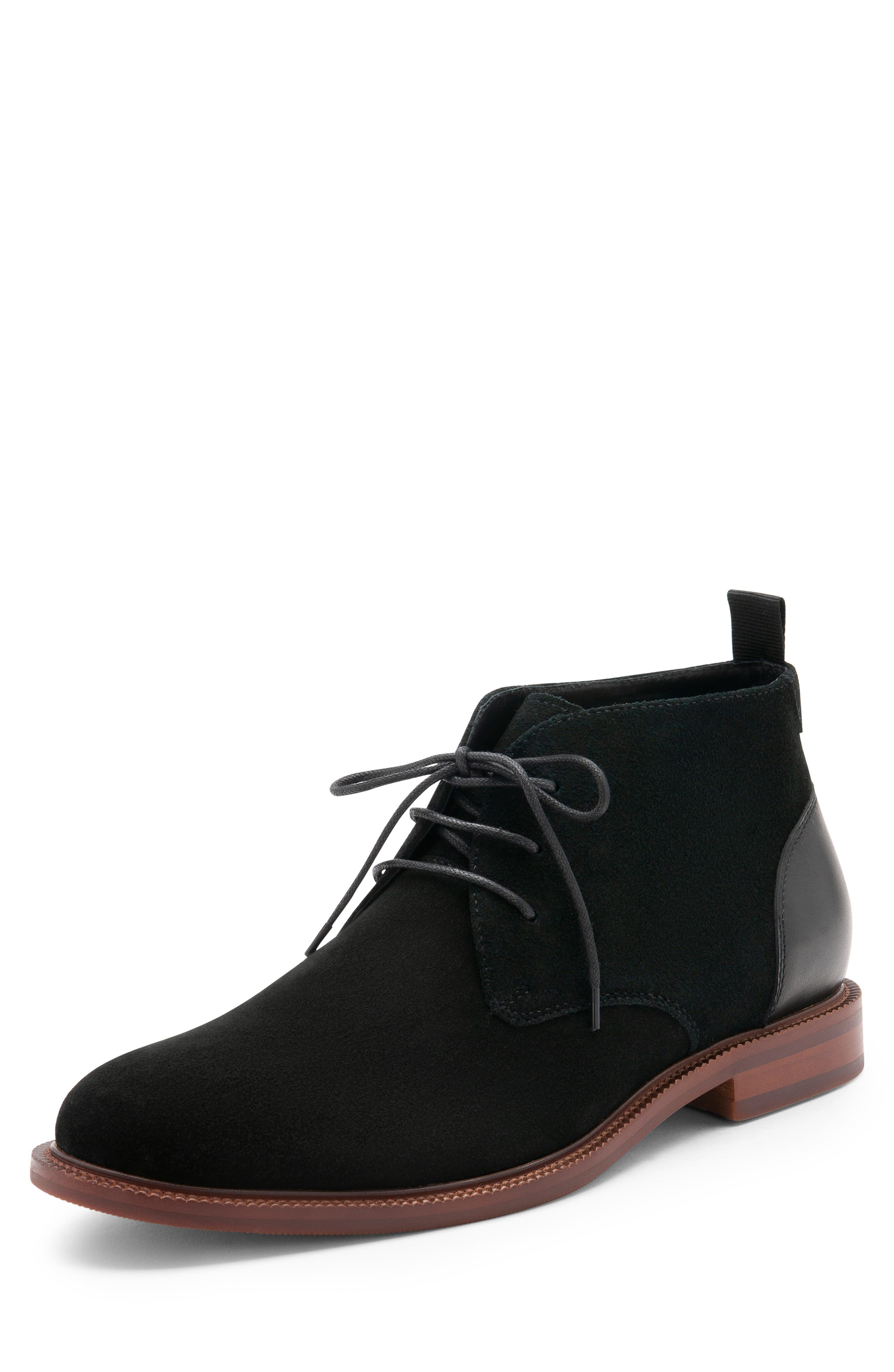 Keith Waterproof Chukka Boot,                             Alternate thumbnail 7, color,                             BLACK SUEDE