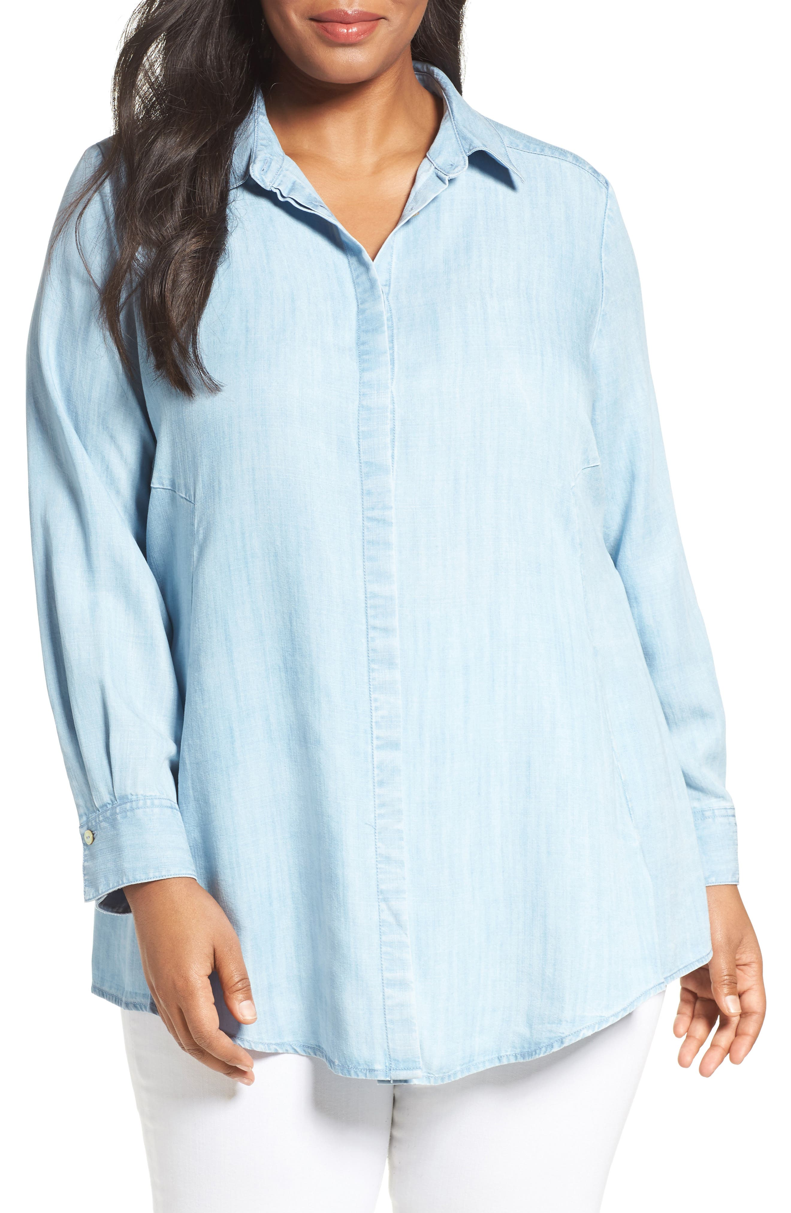 Chambray Tunic,                             Alternate thumbnail 6, color,