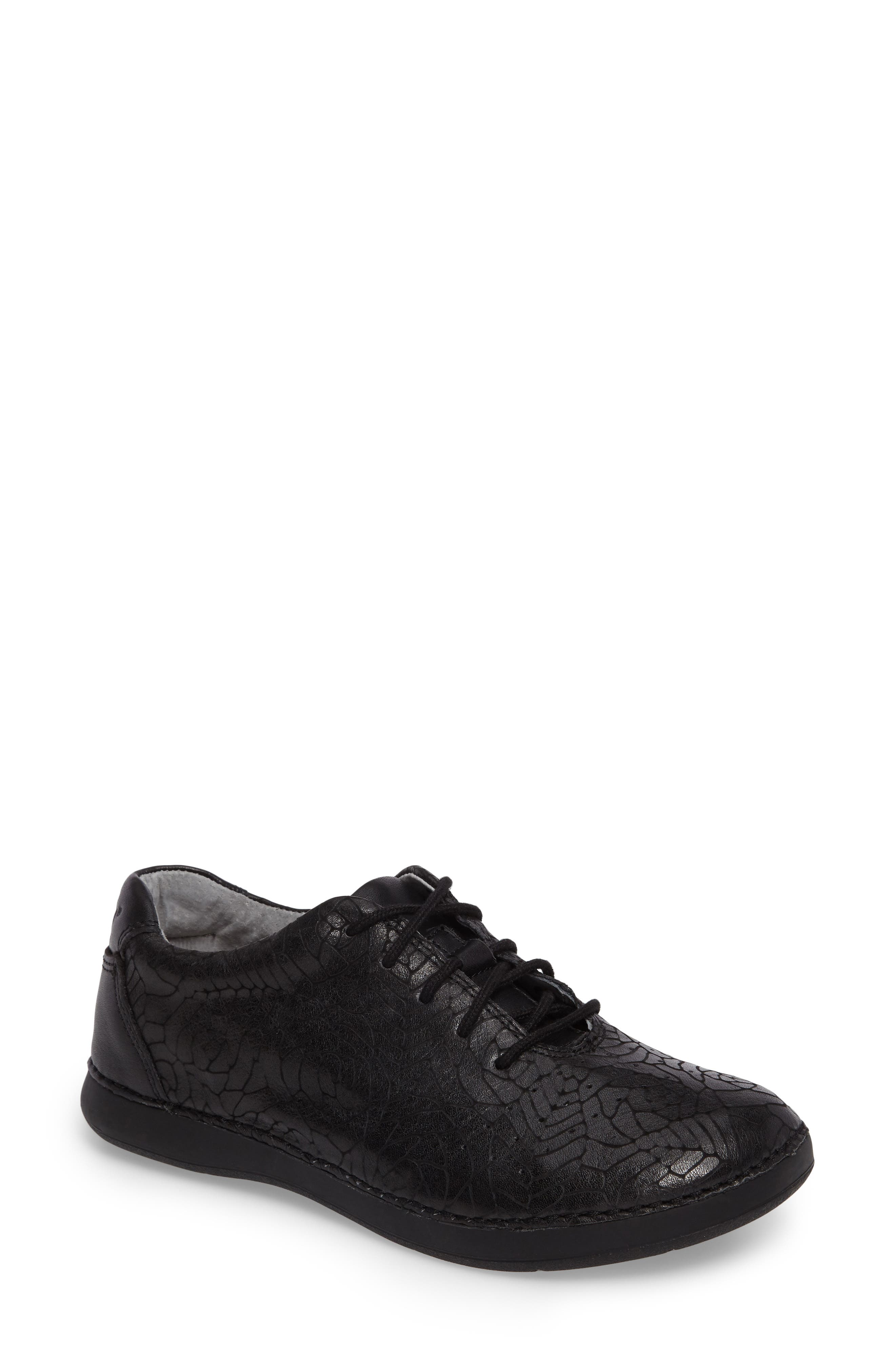 Essence Lace-Up Leather Oxford,                             Main thumbnail 4, color,