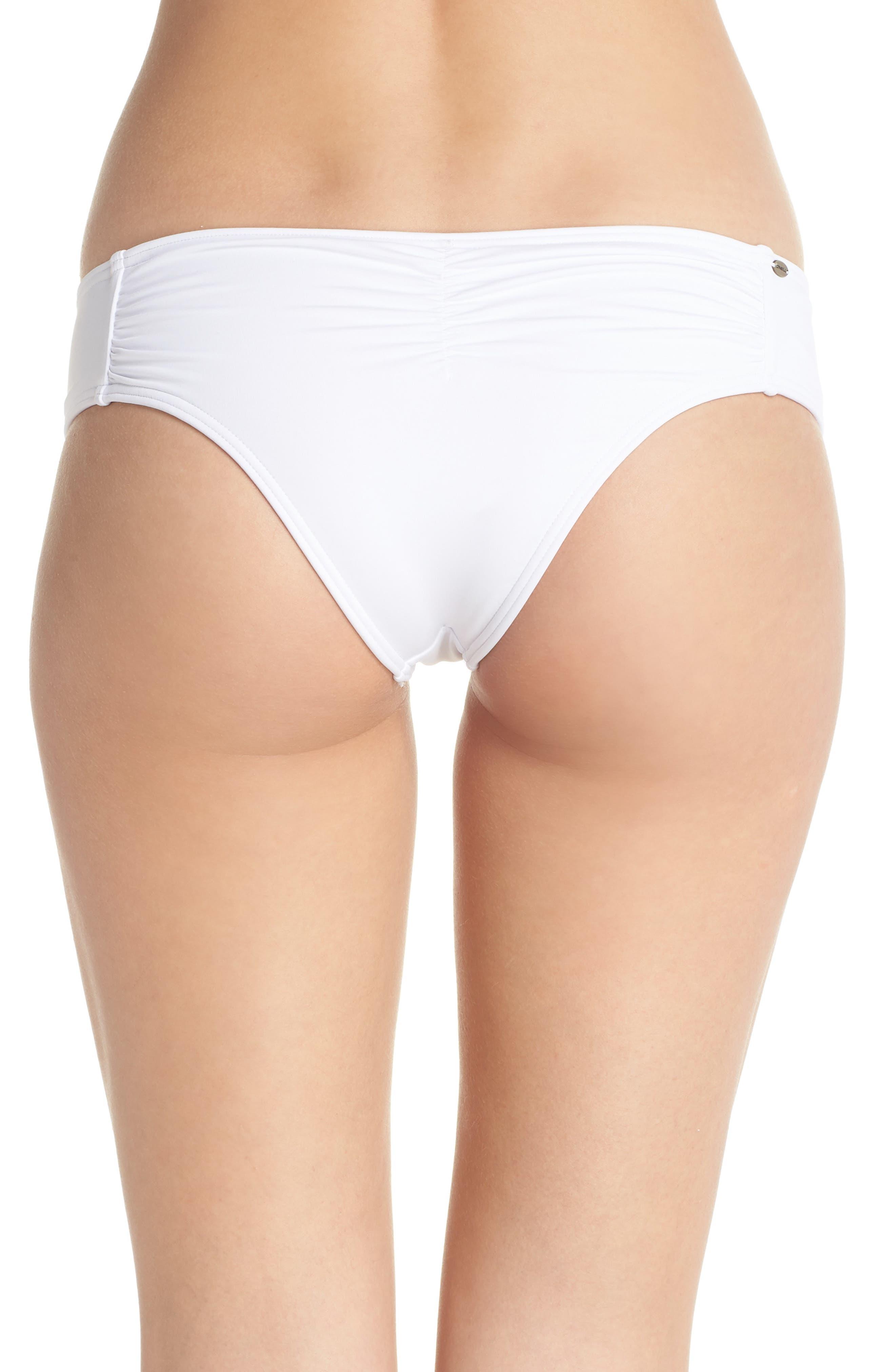 Salt Water Solids Hipster Bikini Bottoms,                             Alternate thumbnail 2, color,                             100