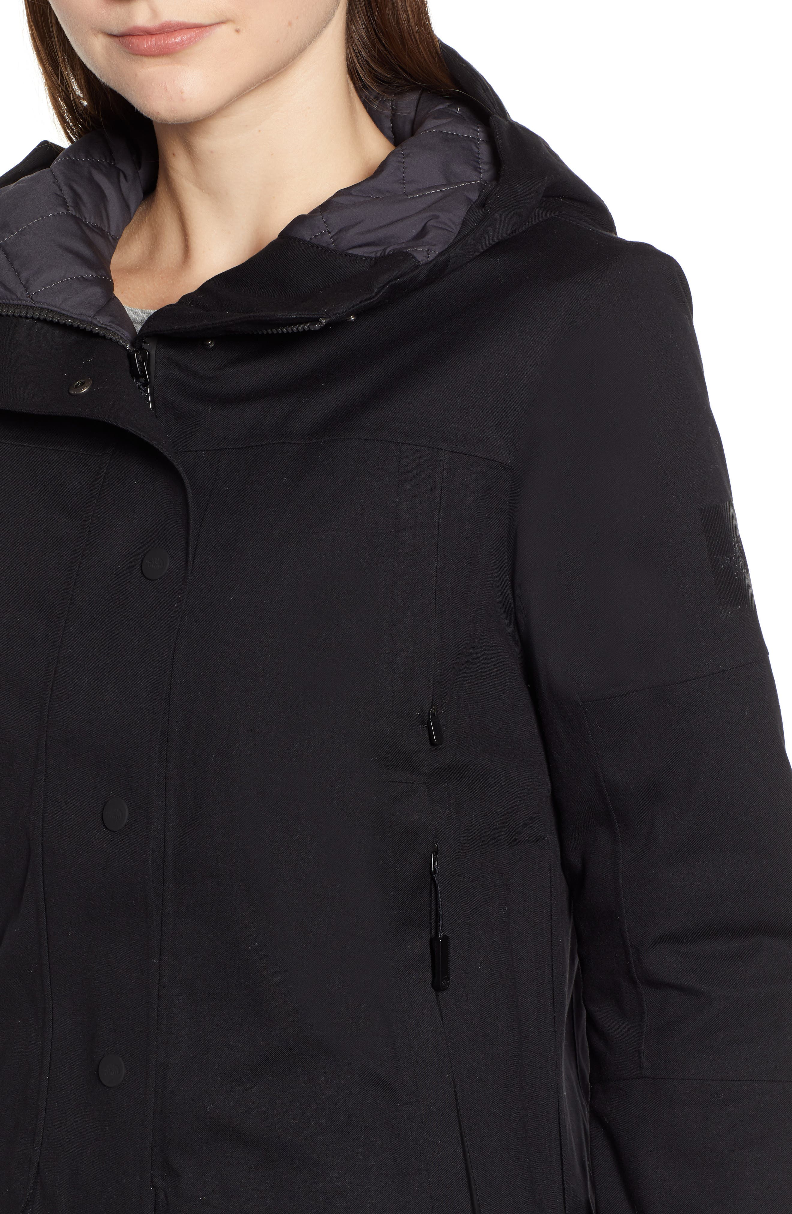 THE NORTH FACE,                             Cryos 2L Mountain Gore-Tex<sup>®</sup> Down Jacket,                             Alternate thumbnail 4, color,                             TNF BLACK