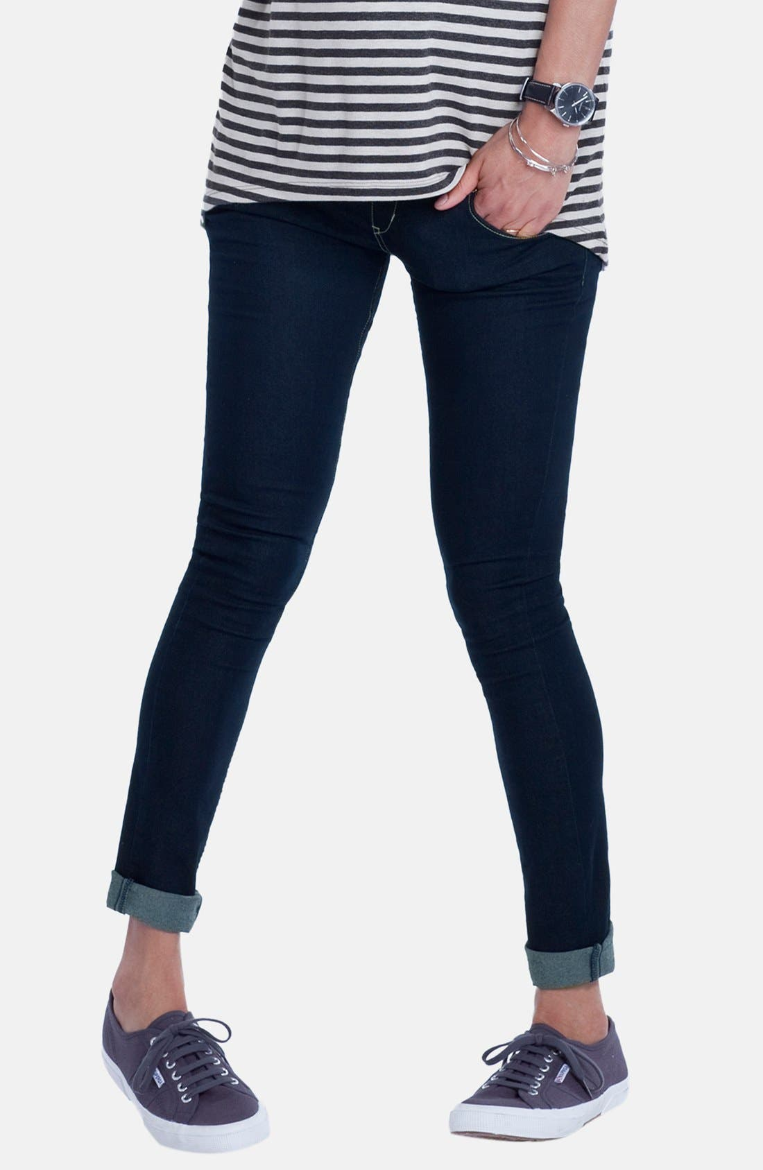 'Zadie' Stretch Maternity Skinny Jeans,                             Main thumbnail 1, color,                             INDIGO