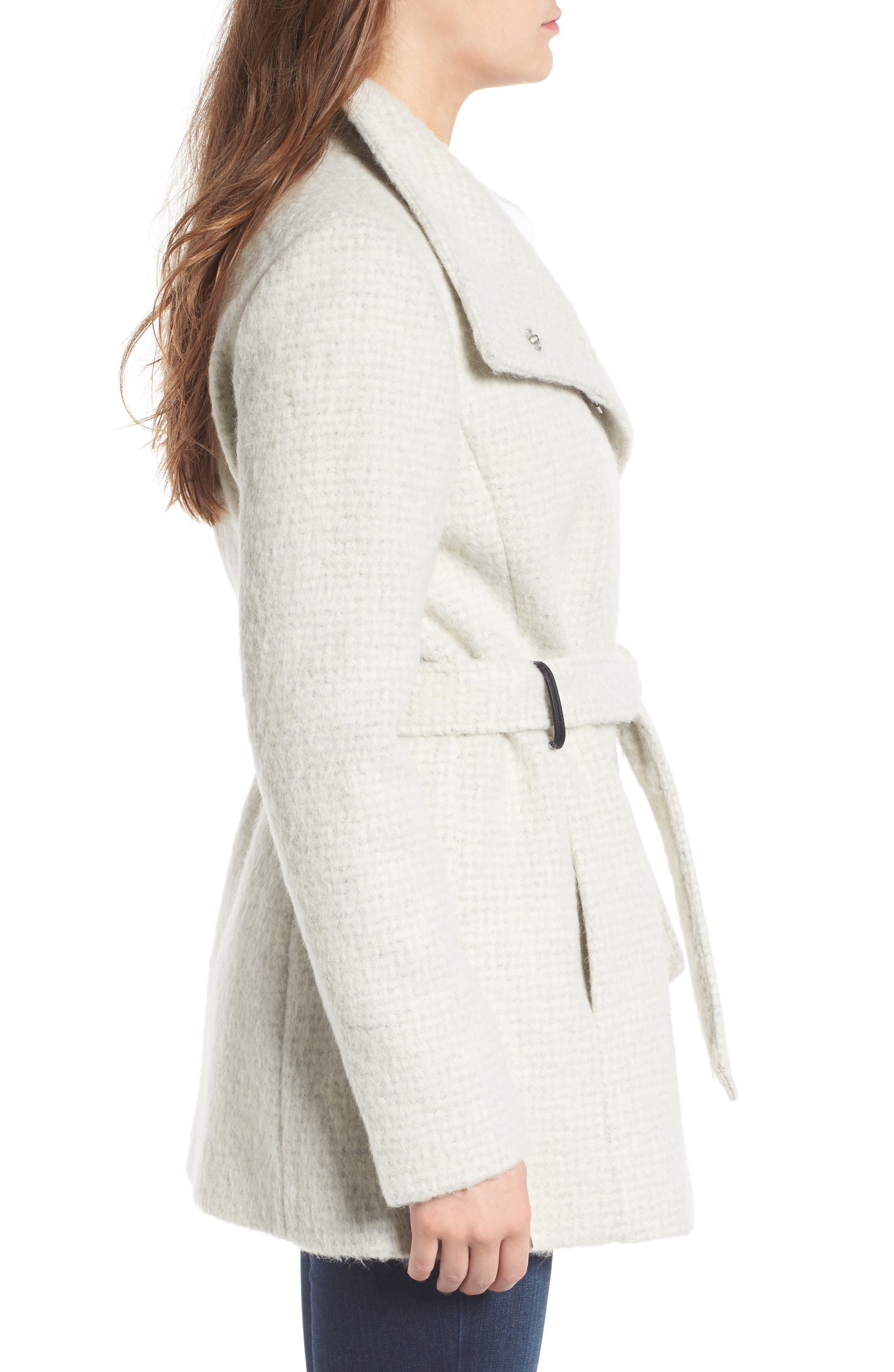 Belted Wrap Coat,                             Alternate thumbnail 6, color,