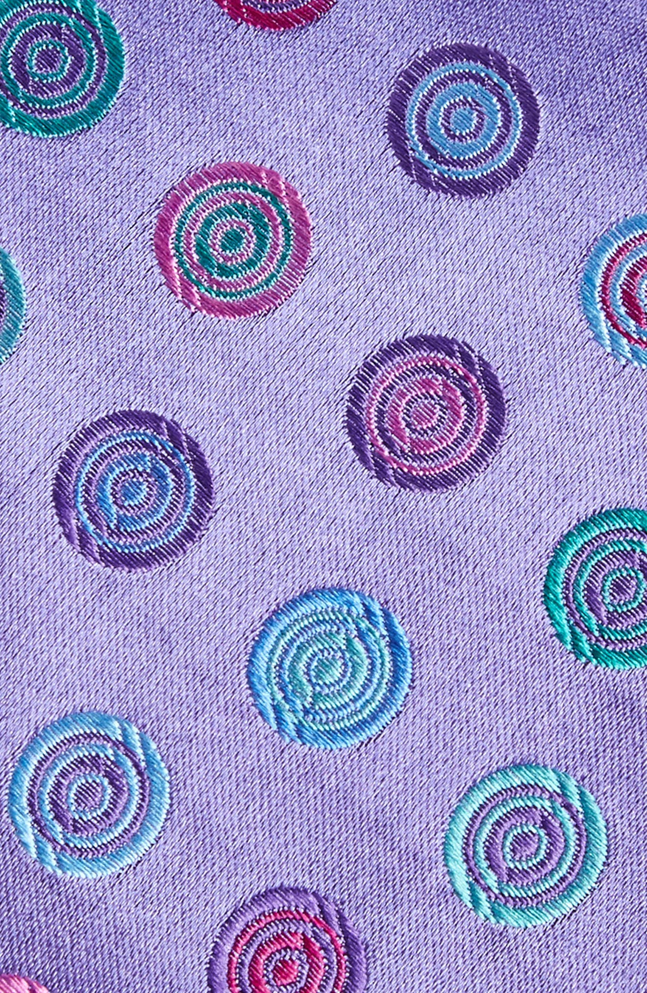 Santa Lucia Medallion Silk Tie,                             Alternate thumbnail 2, color,                             LILAC