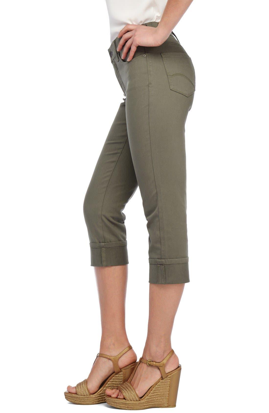 'Dayla' Colored Wide Cuff Capri Jeans,                             Alternate thumbnail 34, color,