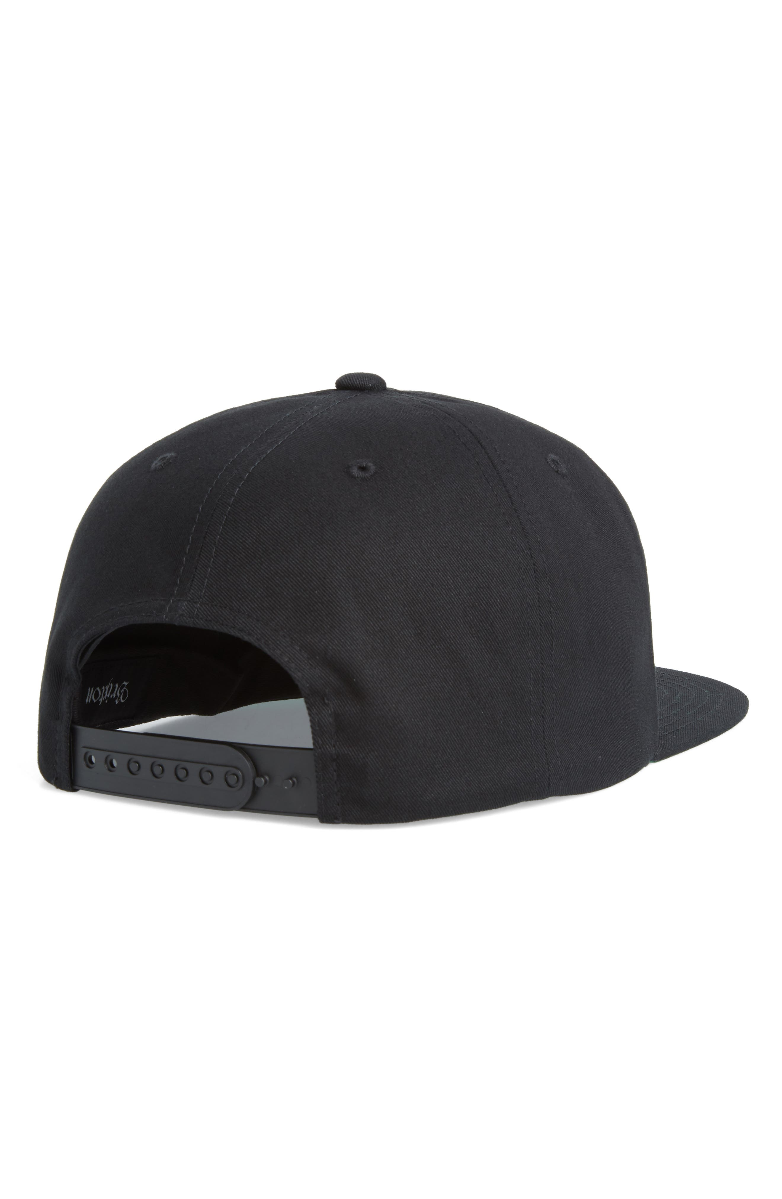 Garth Flat Brimmed Cap,                             Alternate thumbnail 2, color,                             BLACK/ WHITE