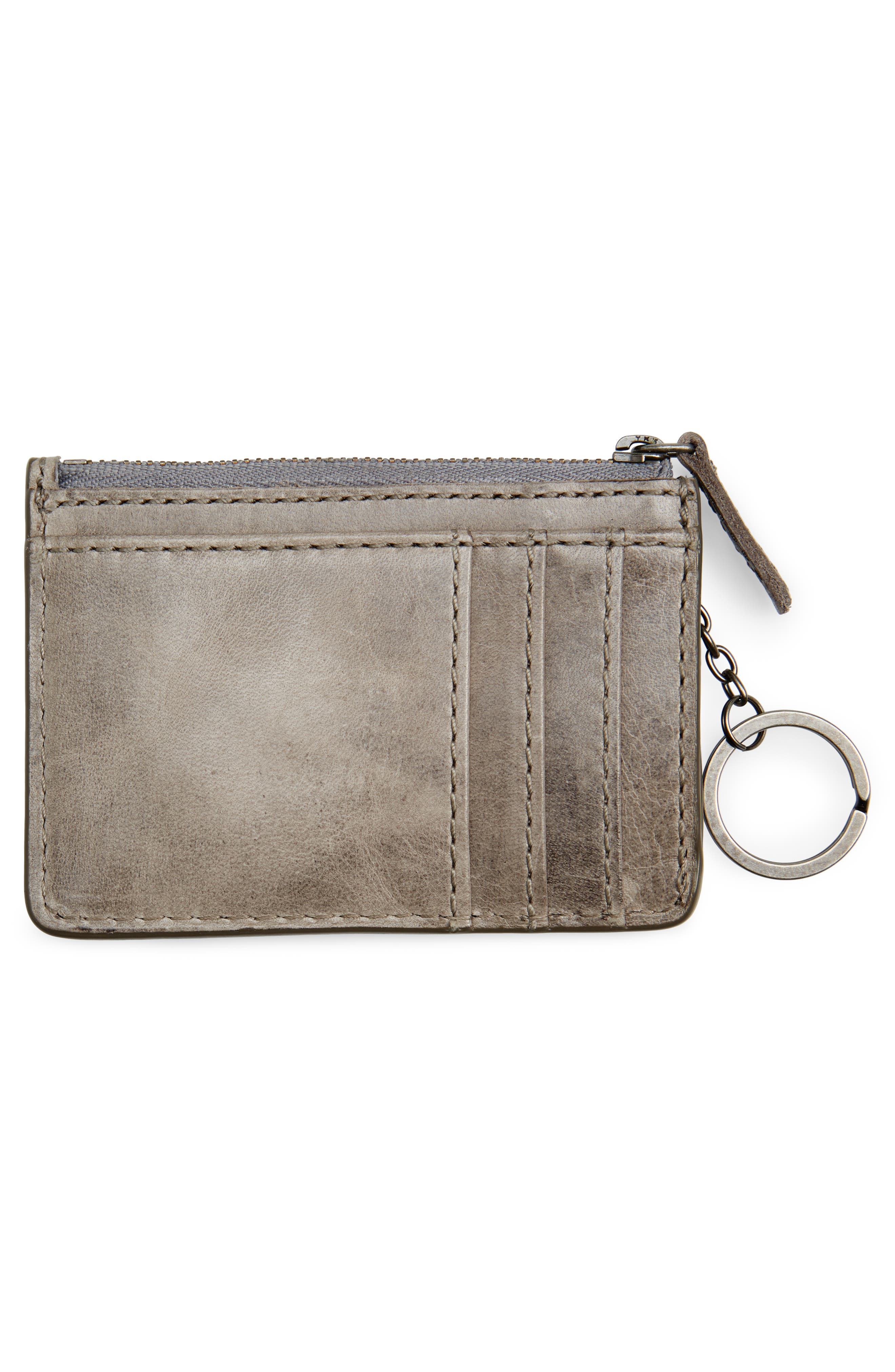 Melissa Leather Card Holder with Key Ring,                             Alternate thumbnail 5, color,