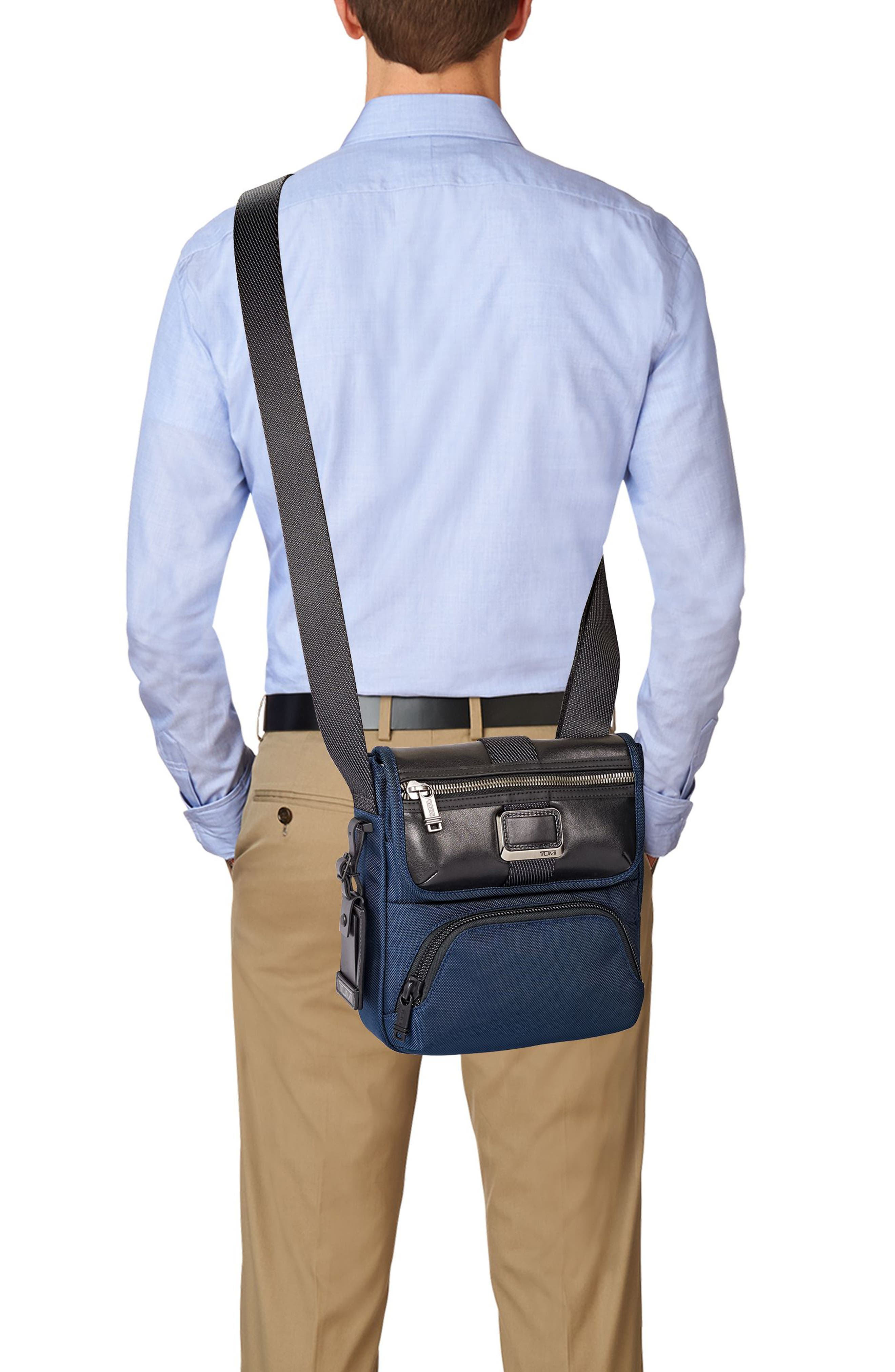 Alpha Bravo - Barton Crossbody Bag,                             Alternate thumbnail 5, color,                             NAVY
