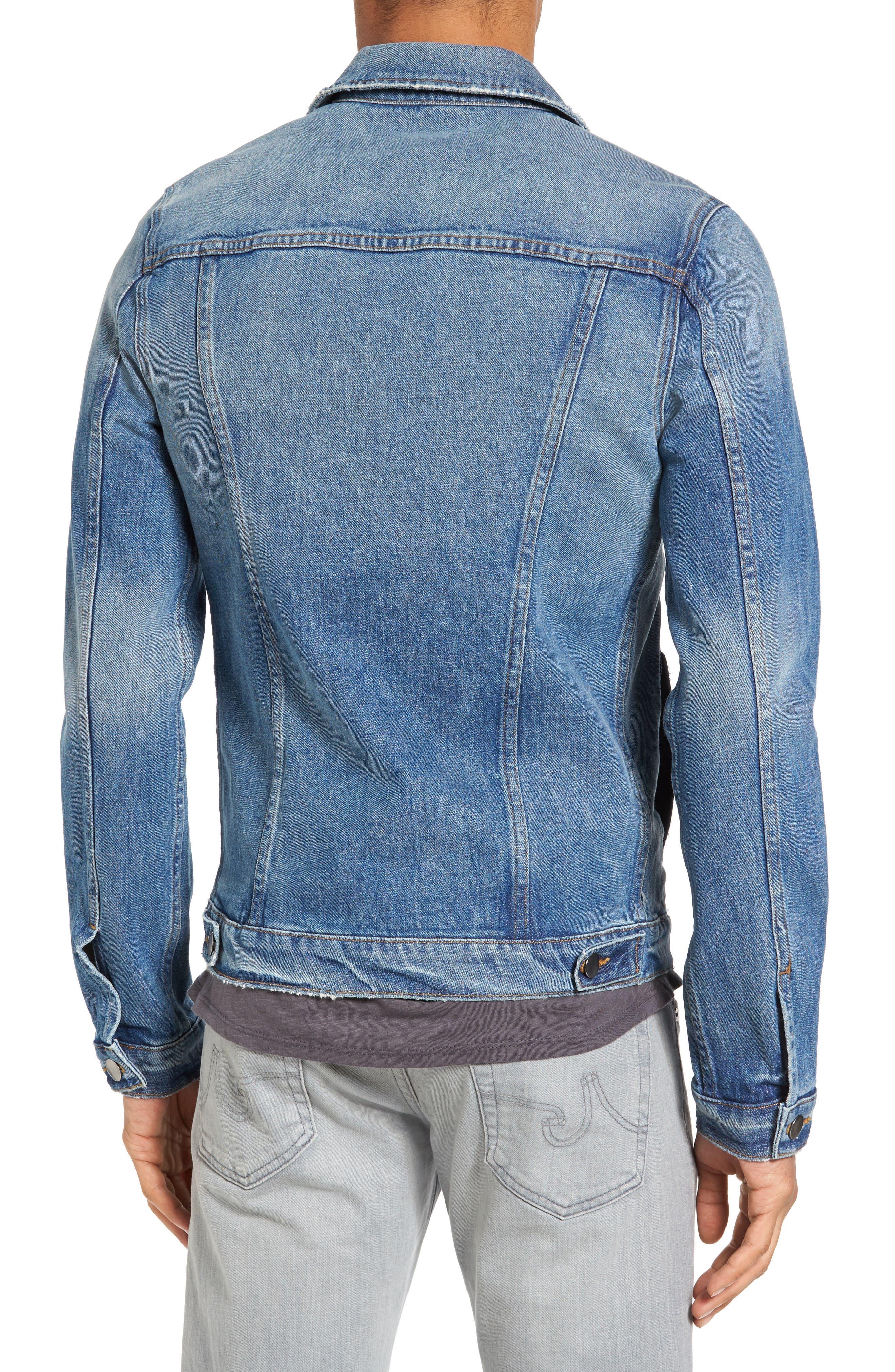 L'Homme Slim Denim Jacket,                             Alternate thumbnail 2, color,                             420