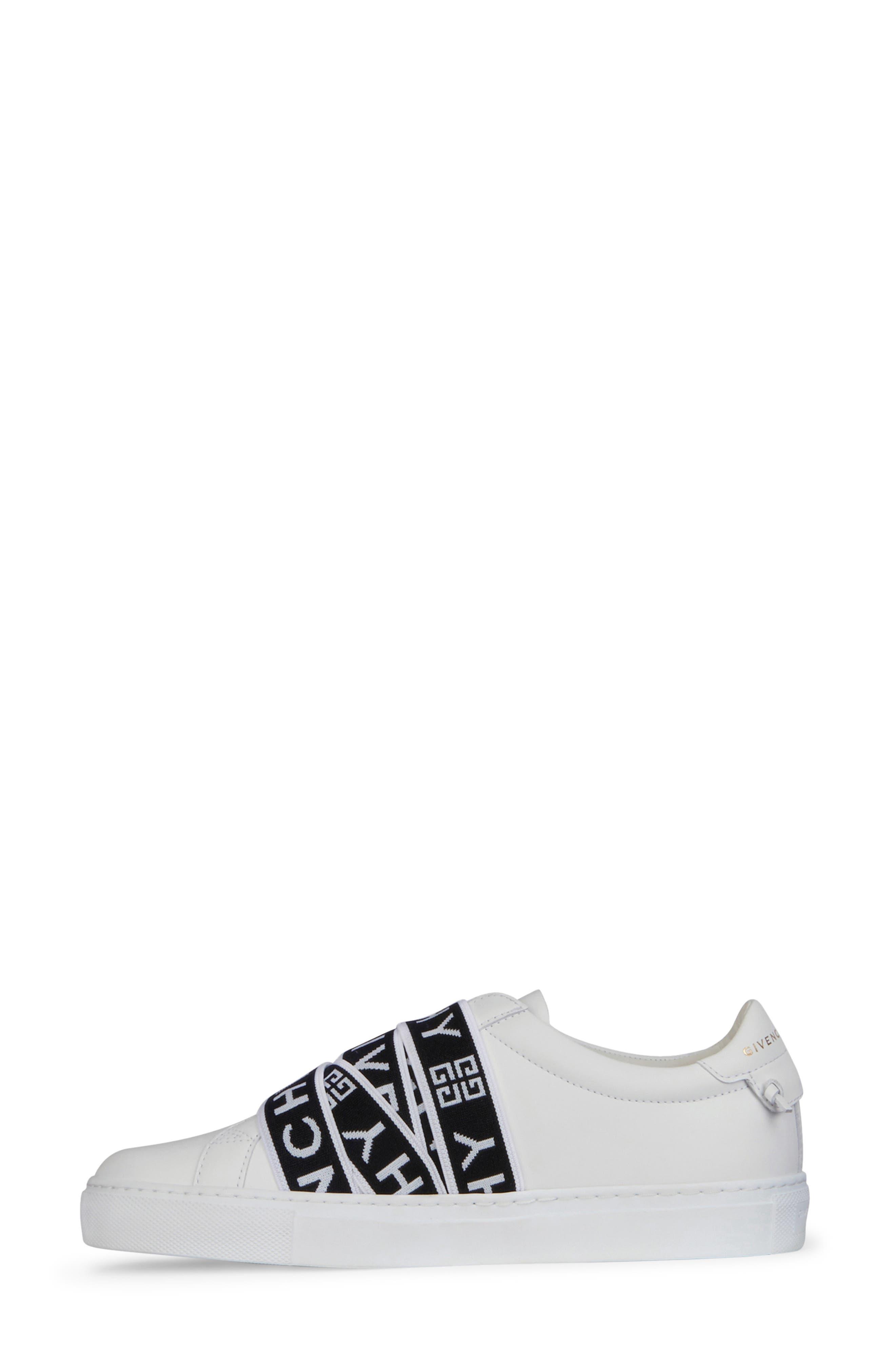 GIVENCHY,                             Urban Street Logo Strap Sneaker,                             Alternate thumbnail 6, color,                             WHITE/ BLACK