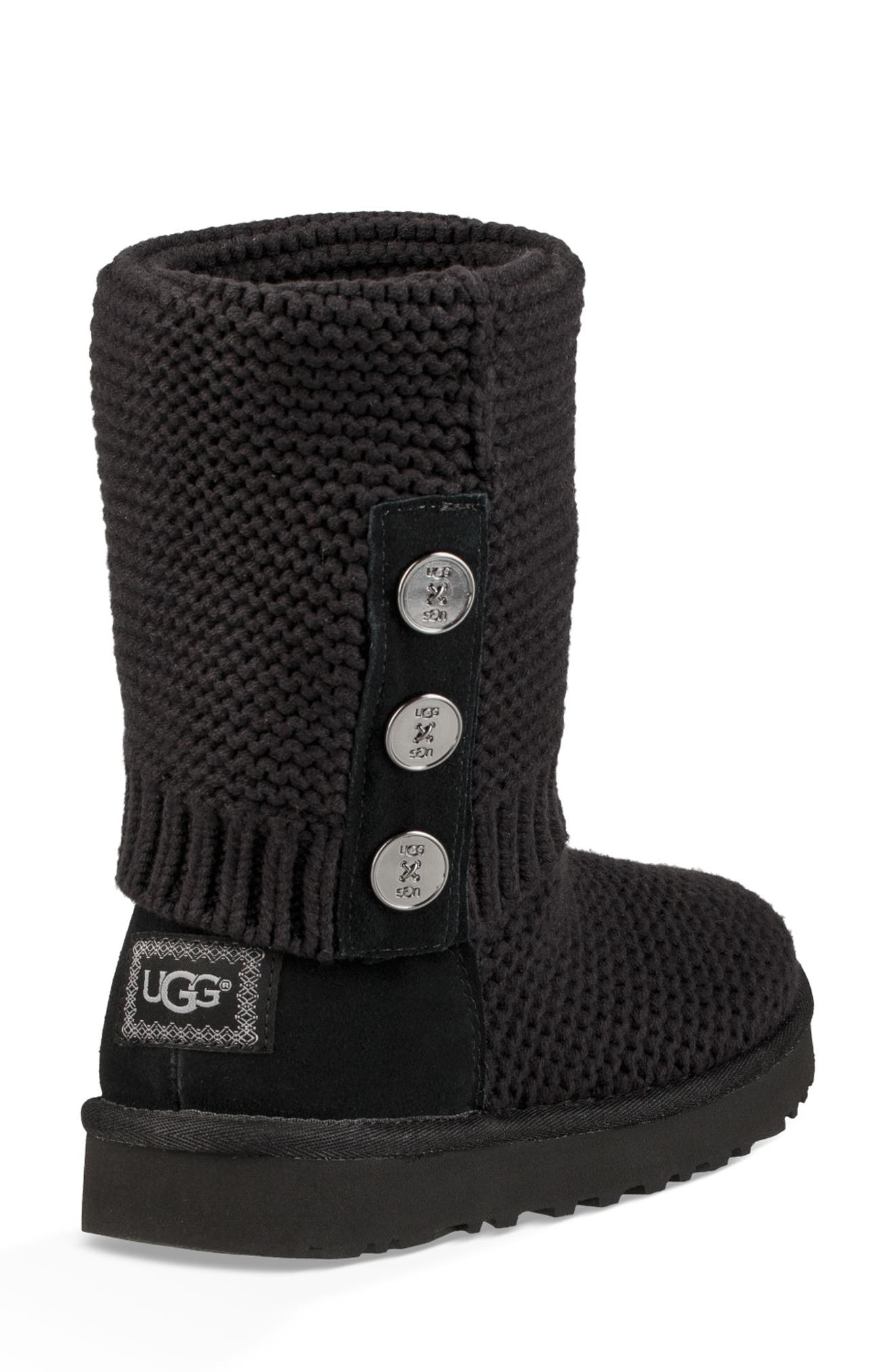 UGG<SUP>®</SUP>,                             Purl Cardy Knit Boot,                             Alternate thumbnail 11, color,                             001