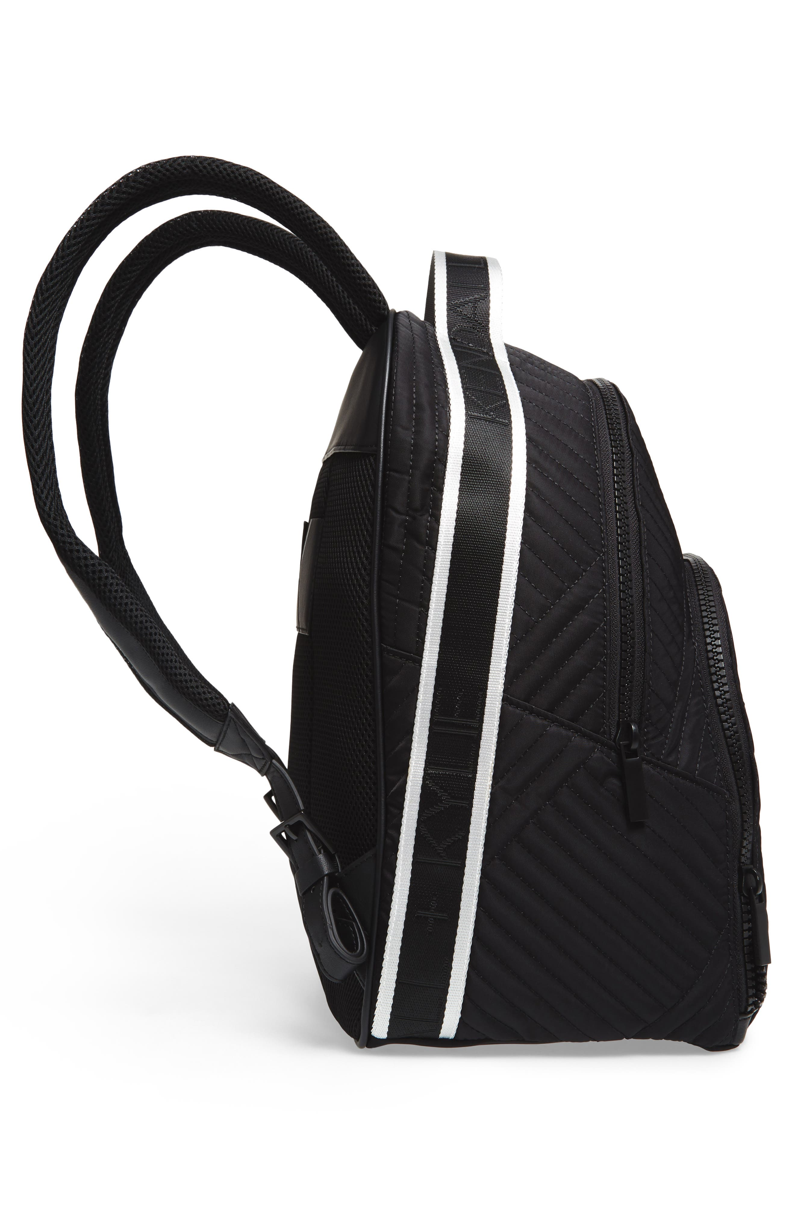 Jo Quilted Nylon Backpack,                             Alternate thumbnail 5, color,                             001