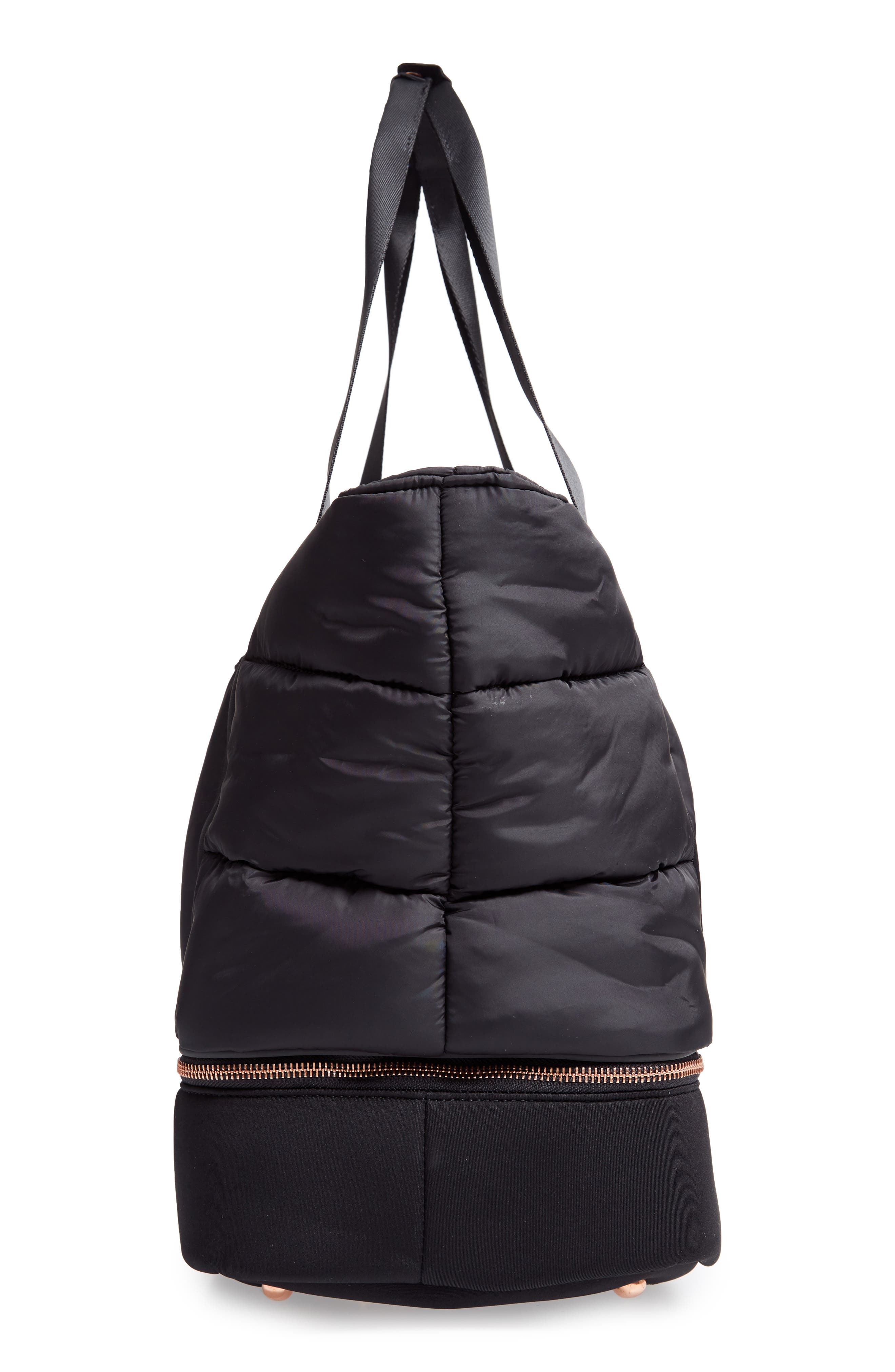 Luxe Gym Bag,                             Alternate thumbnail 5, color,                             001