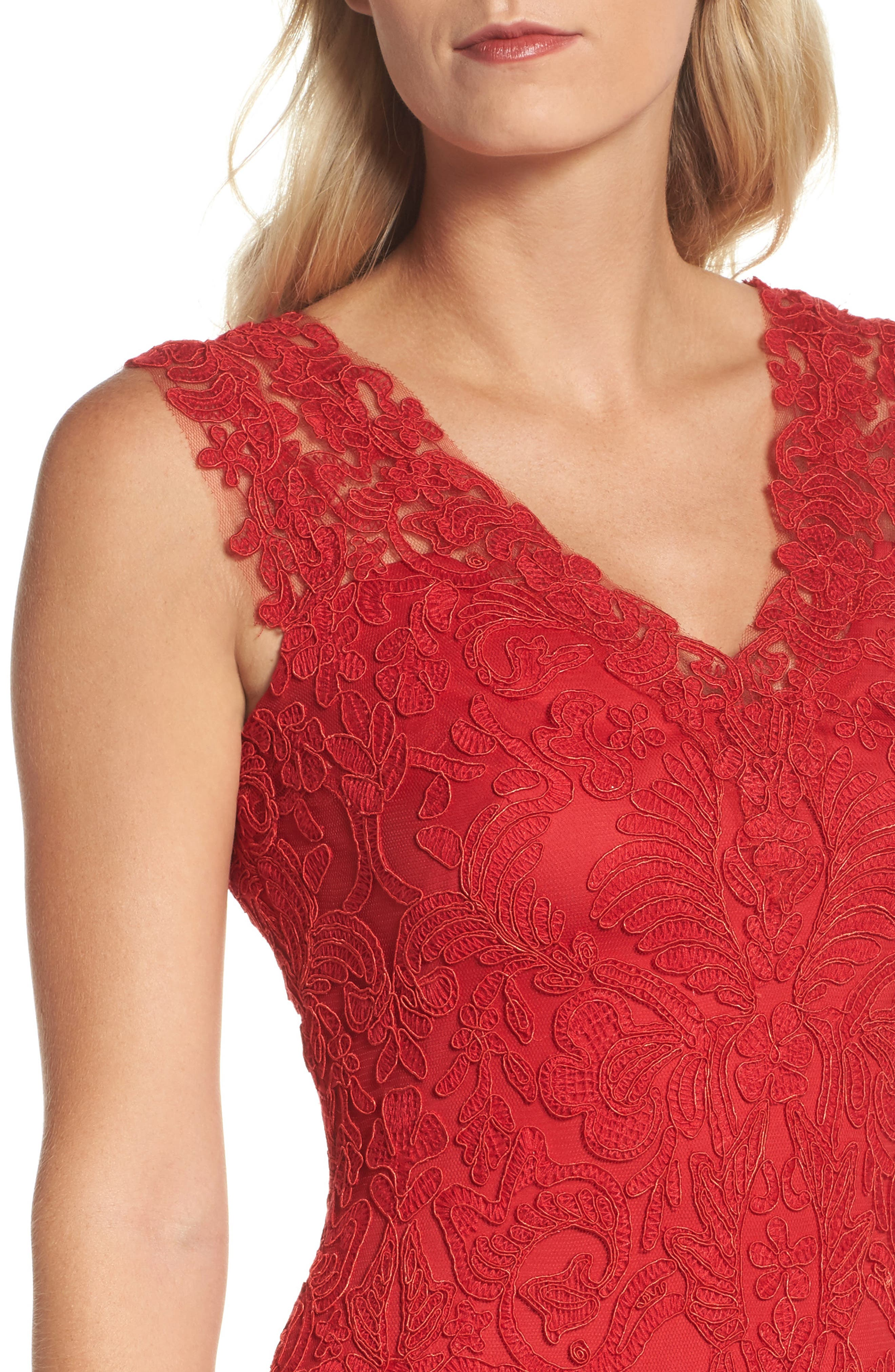 Kelly Embroidered Mermaid Gown,                             Alternate thumbnail 4, color,                             611