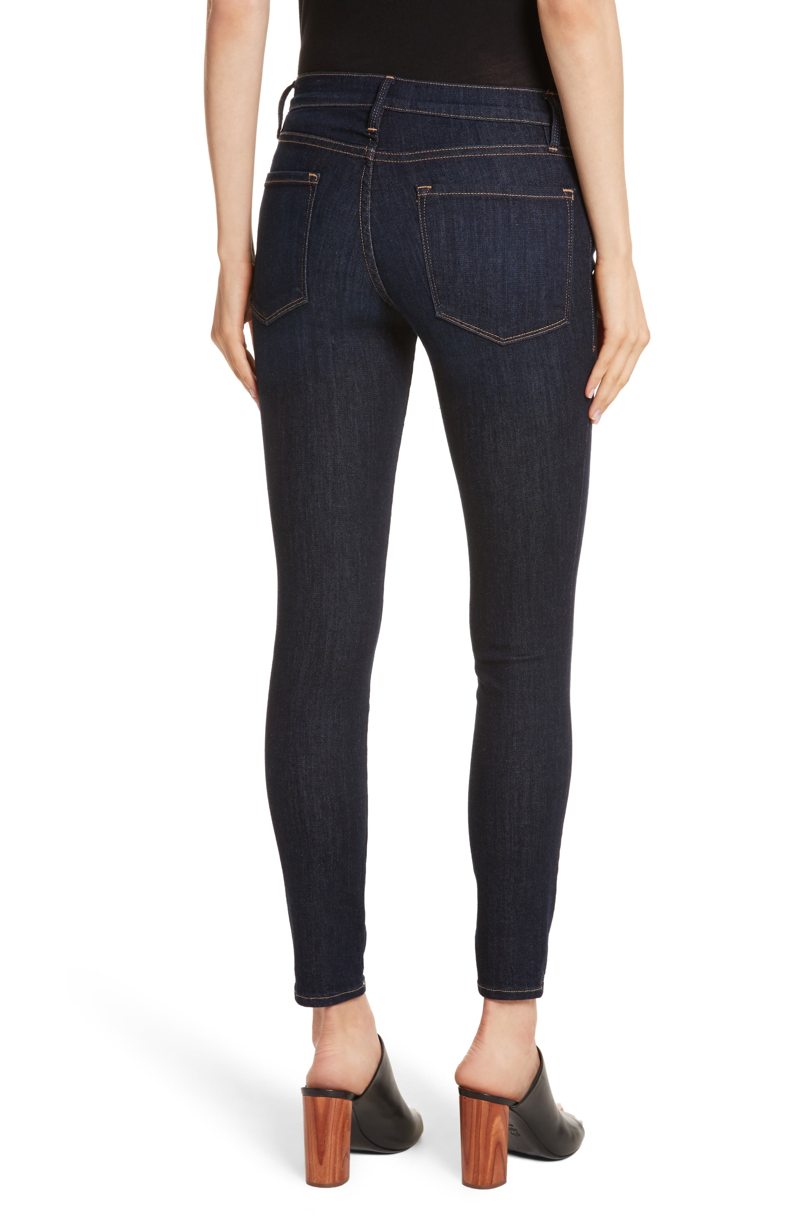 Le Skinny de Jeanne Jeans,                             Alternate thumbnail 2, color,                             DAME
