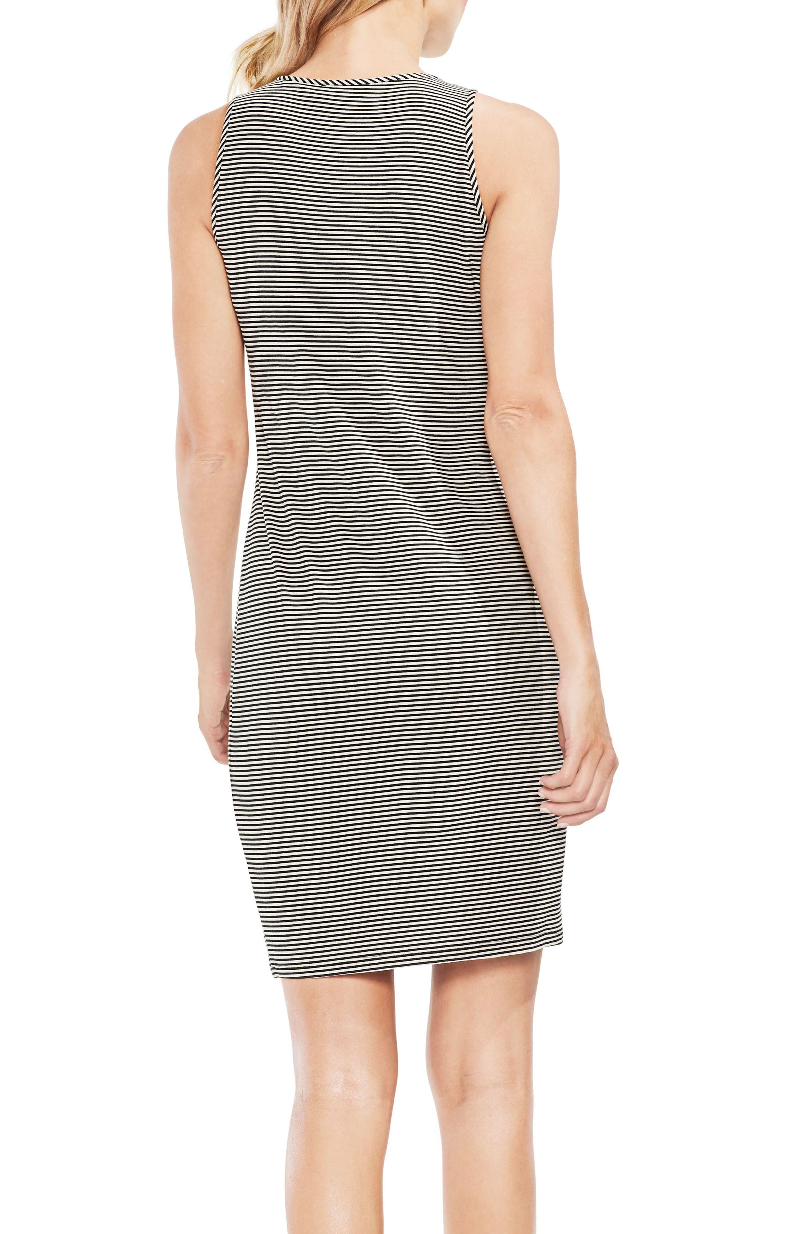 Chantelle Pinstripe Body-Con Dress,                             Alternate thumbnail 2, color,                             001