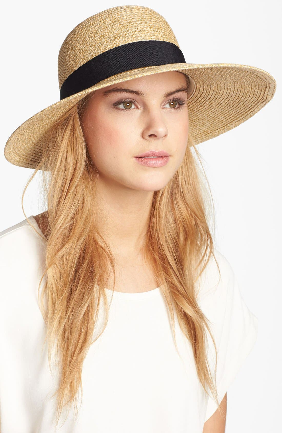 Wide Brim Sun Hat,                             Main thumbnail 4, color,