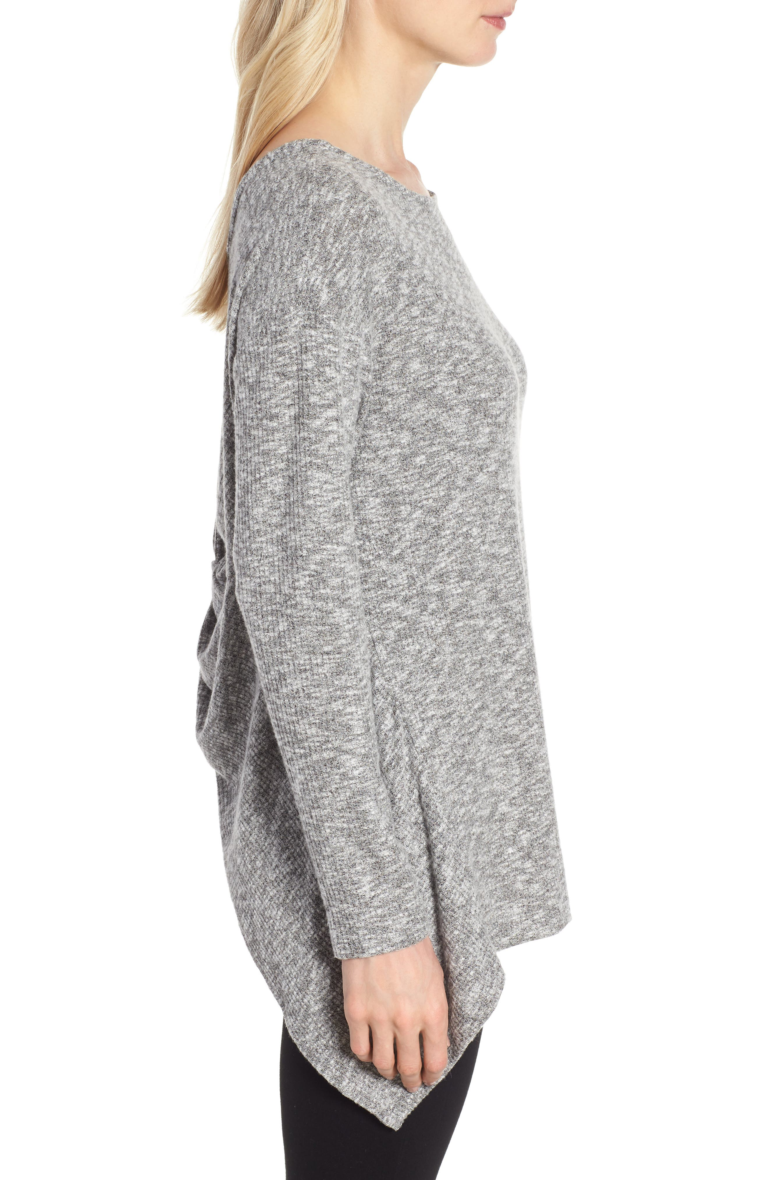 Ribbed Cozy Fleece Twist Back Top,                             Alternate thumbnail 10, color,