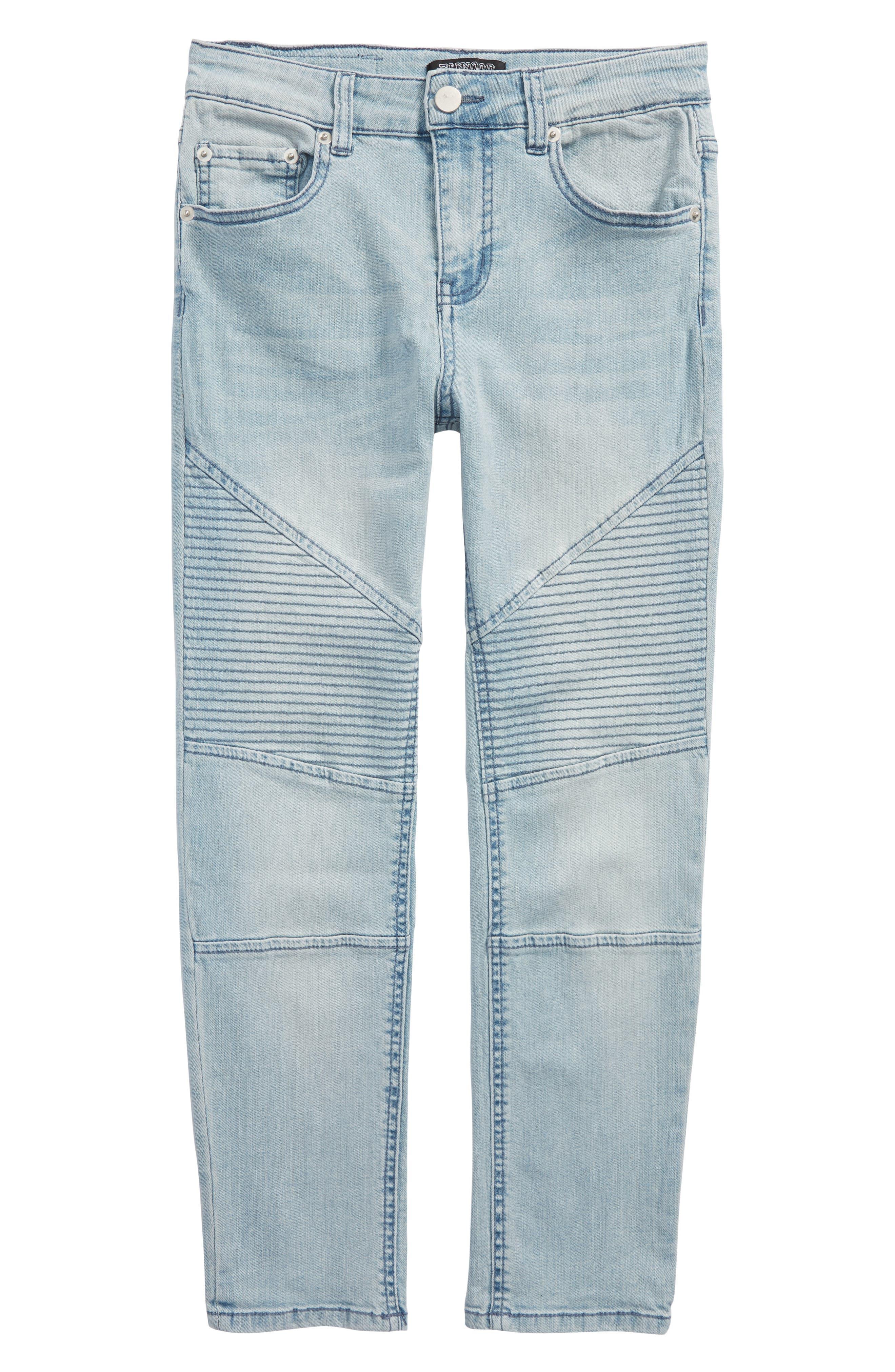 Straight Leg Moto Jeans,                             Main thumbnail 2, color,