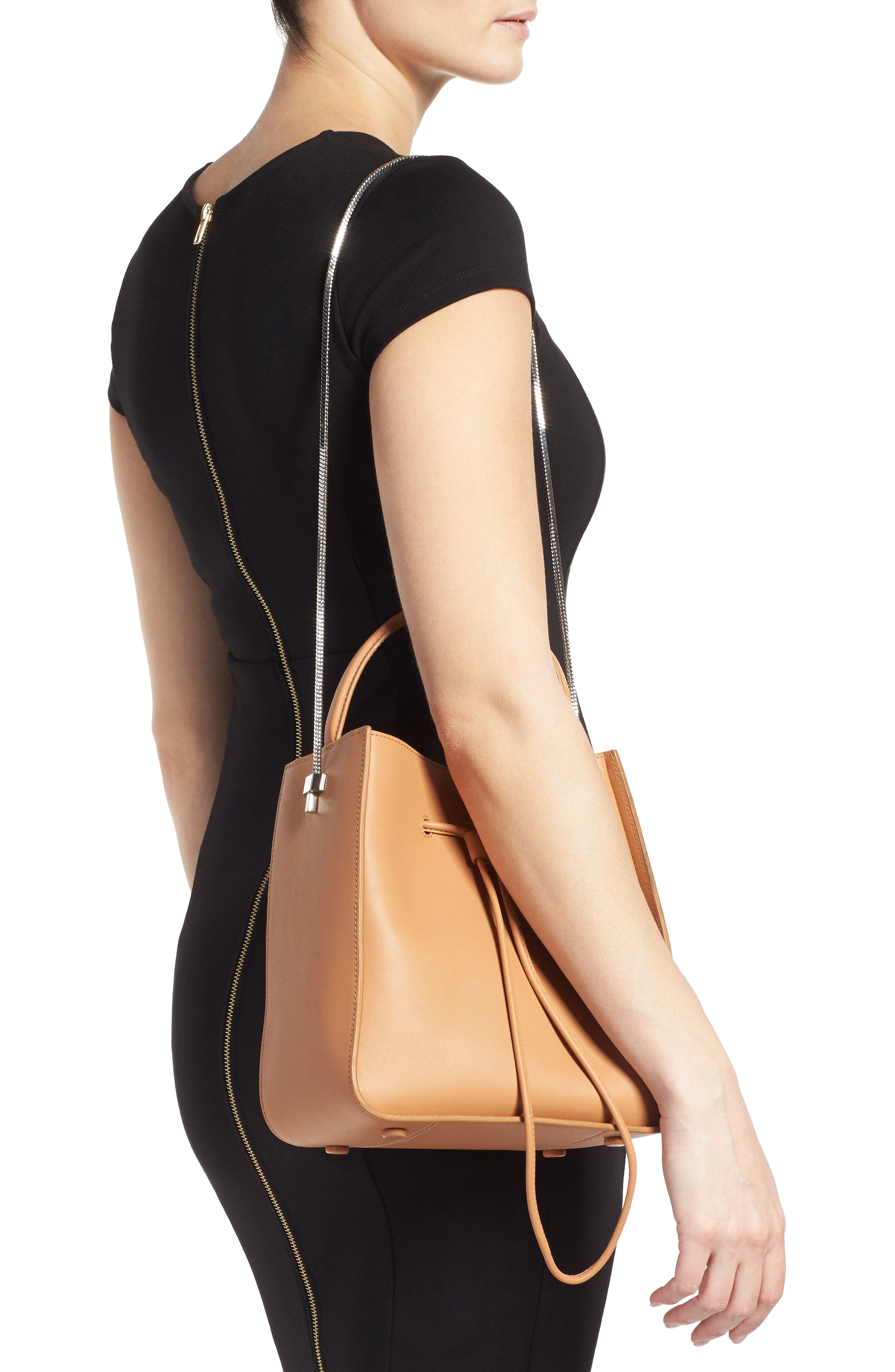 Mini Soleil Leather Bucket Bag,                             Alternate thumbnail 2, color,                             249