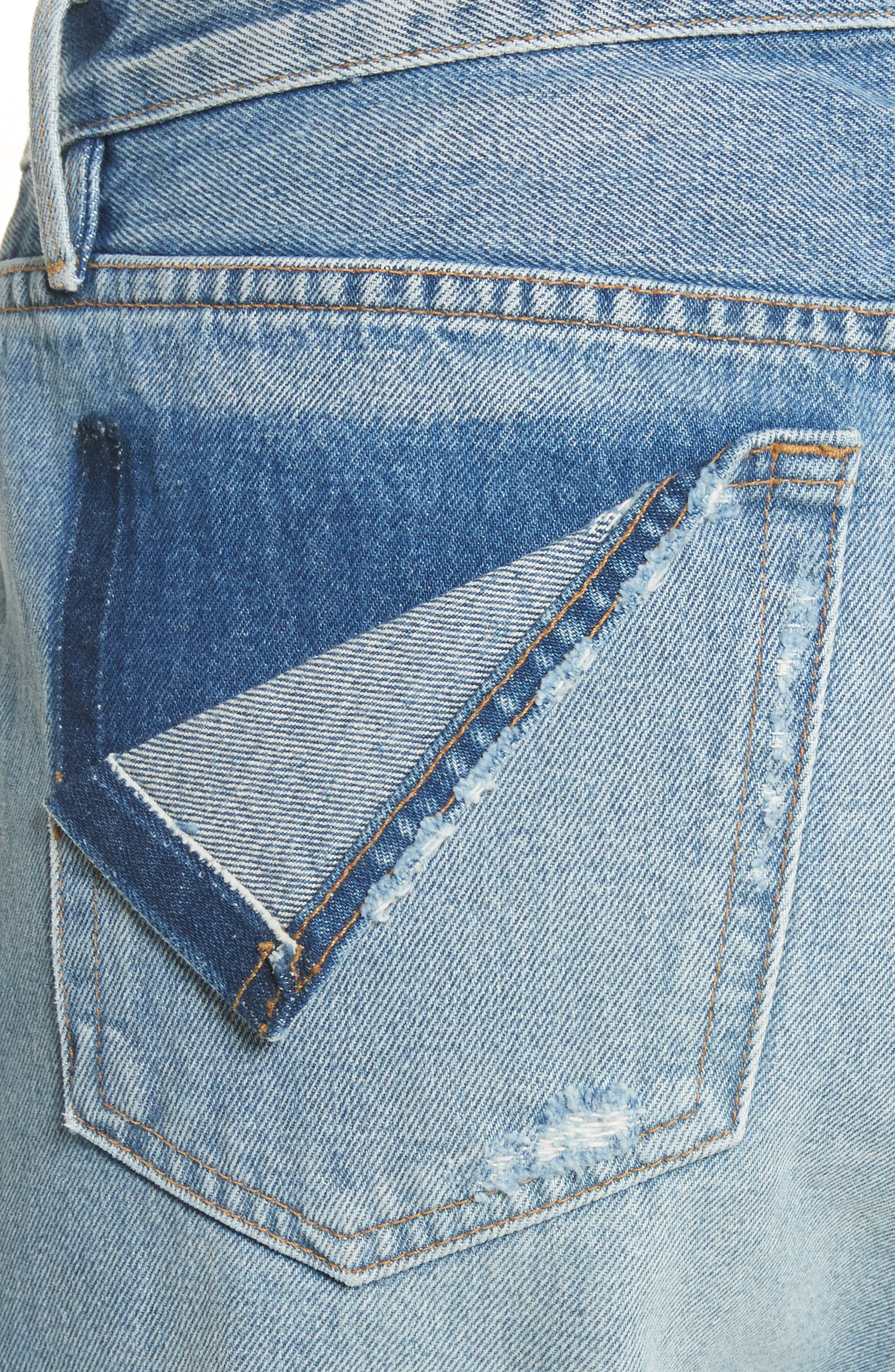Le Stevie Distressed Crop Jeans,                             Alternate thumbnail 4, color,                             420
