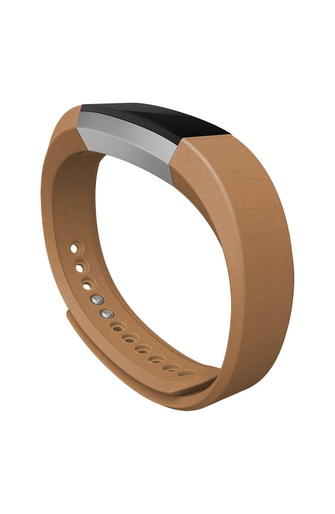 Alta Leather Fitness Watch Band,                             Alternate thumbnail 3, color,                             250