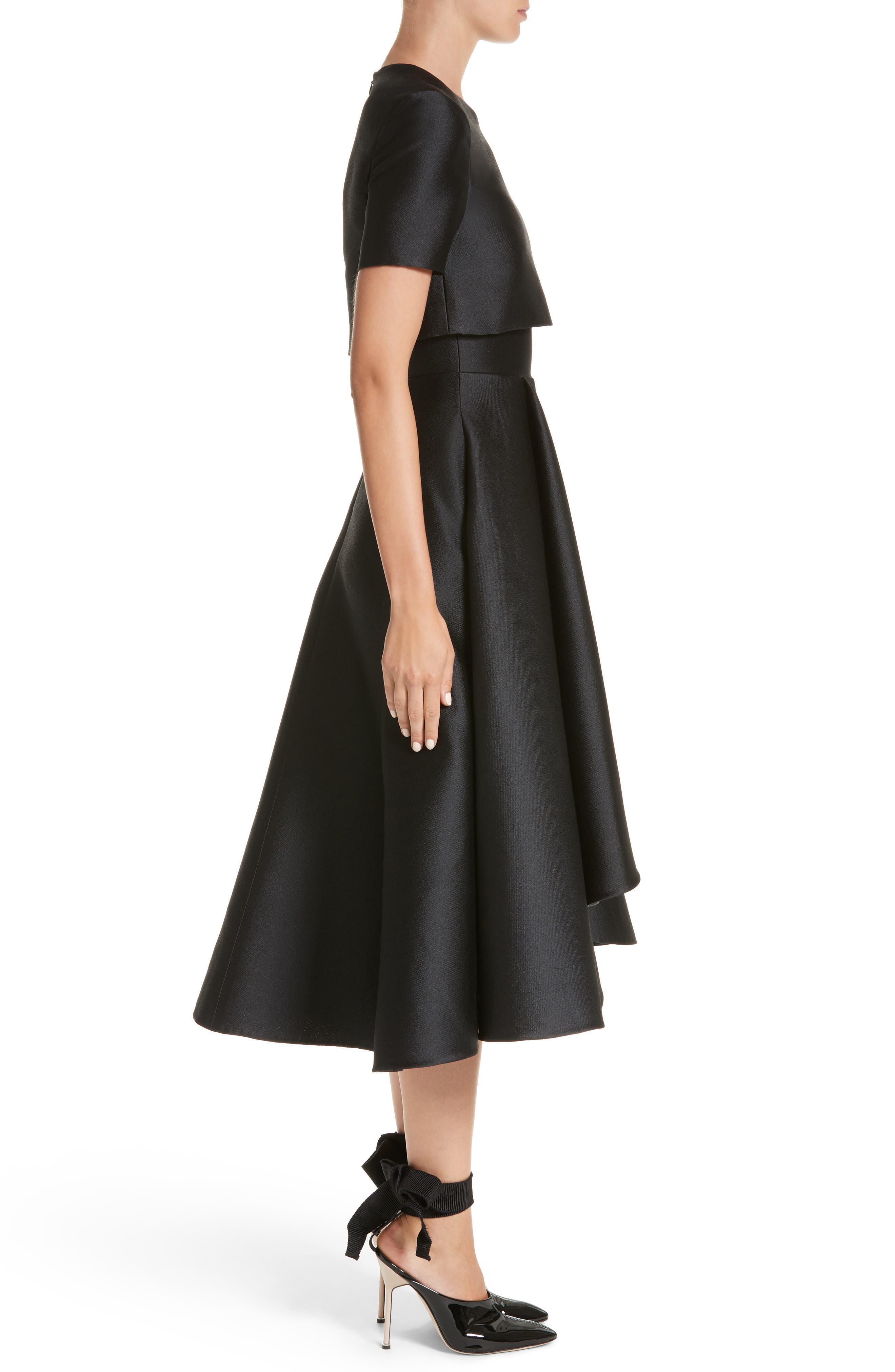 Popover Fit & Flare Dress,                             Alternate thumbnail 3, color,                             001
