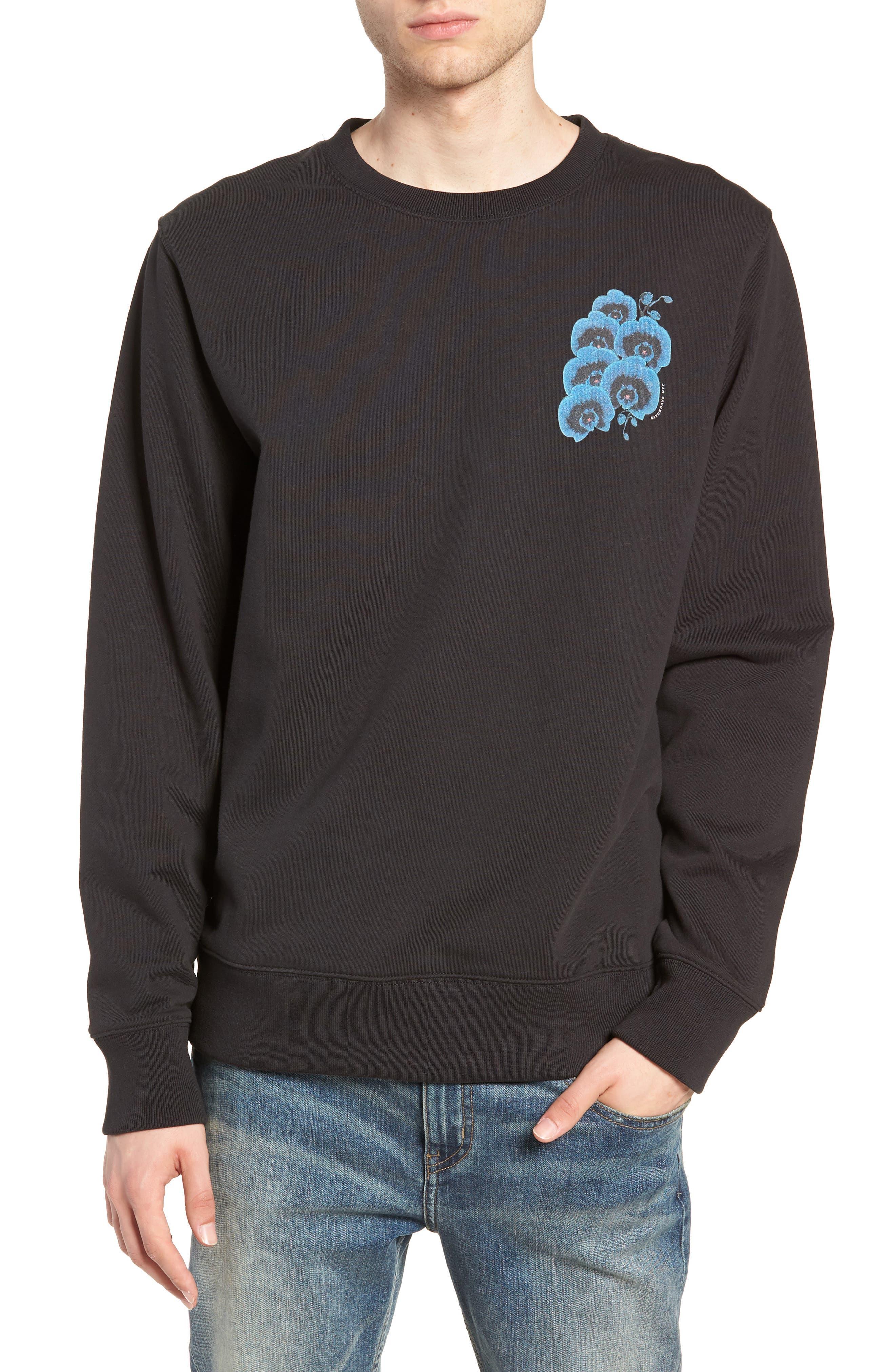 Bowery Orchid Graphic Sweatshirt,                             Main thumbnail 1, color,                             001