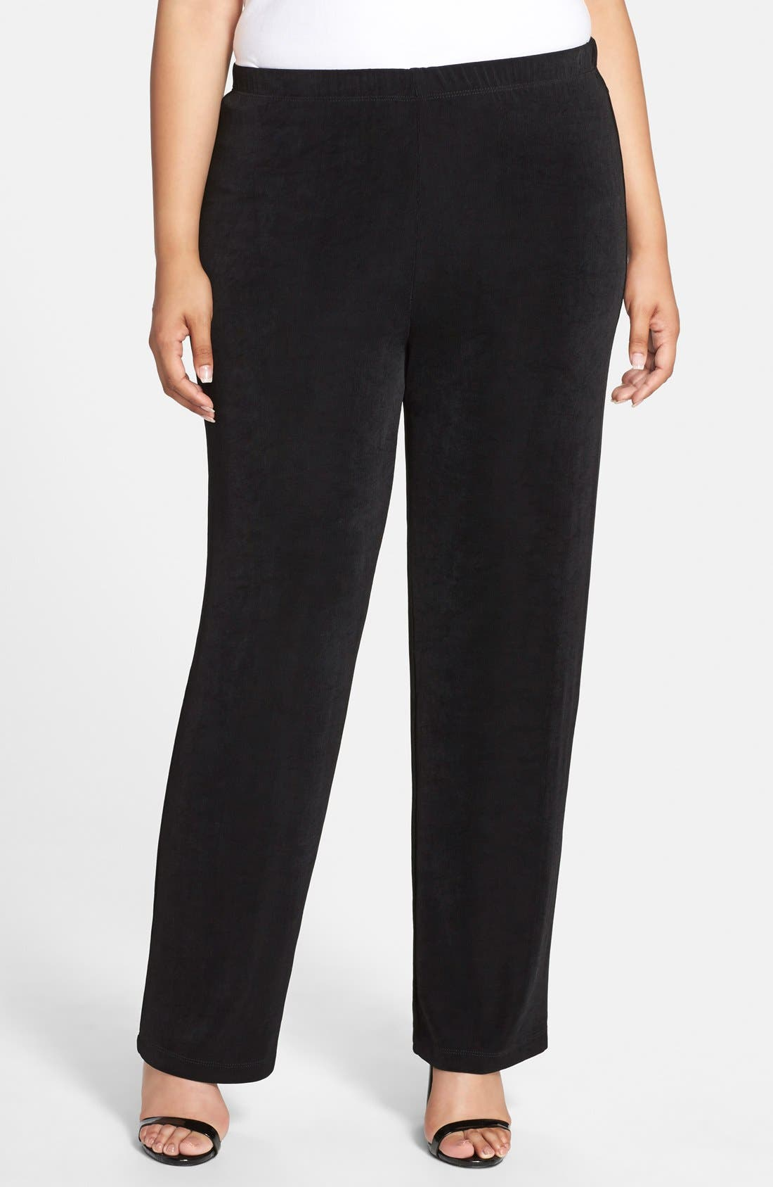 High Rise Pull-On Pants,                         Main,                         color, BLACK